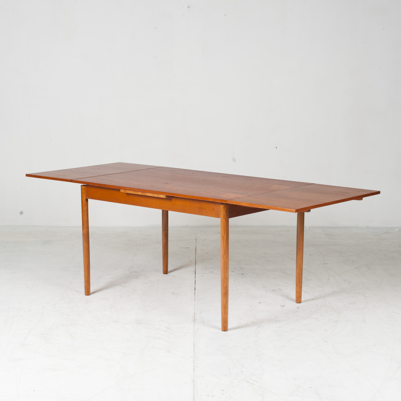Rectangular Dining Table In Teak With Concealed Extentions 1960s Denmark8