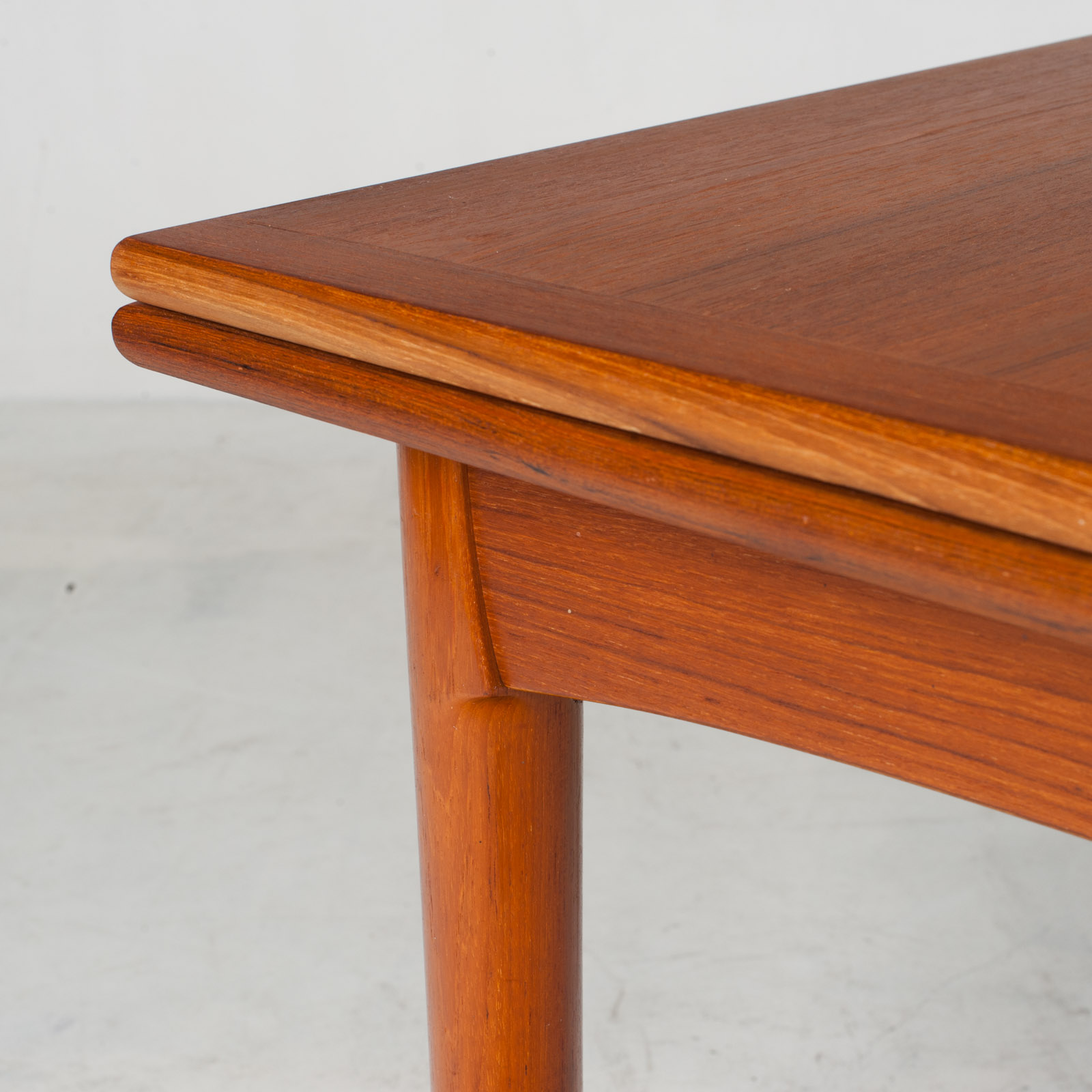 Rectangular Dining Table In Teak With Concealed Extentions 1960s Denmark9