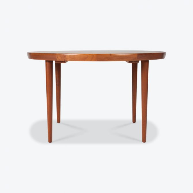 Round Dining Table In Teak With 2 Leave Extensions 1960s Denmark Thumb.jpg