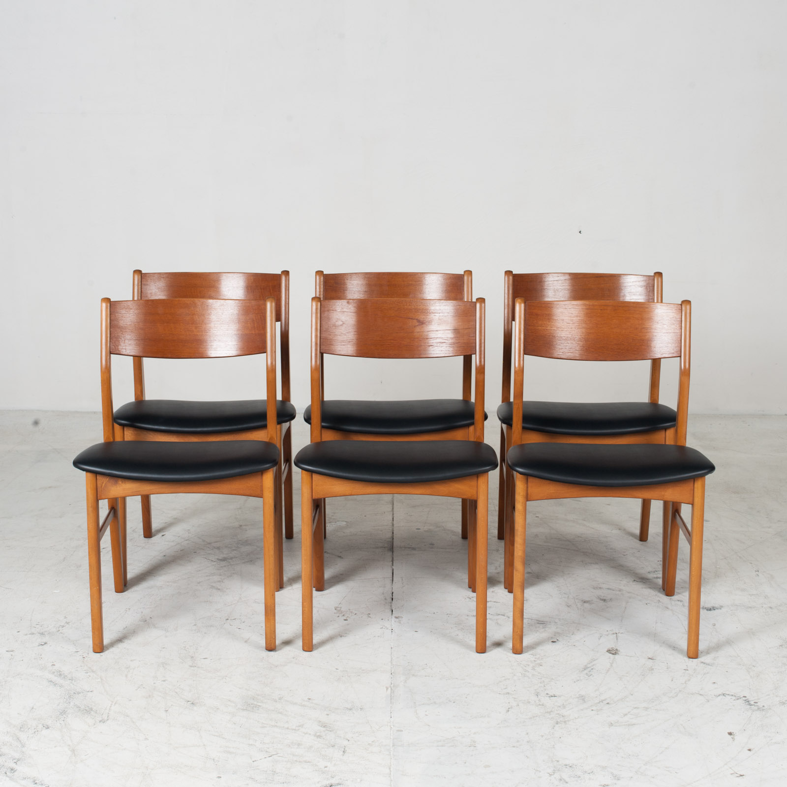 Set 6 Dining Chairs In The Style Of Erik Buch In Teak 1960s Denmark 011