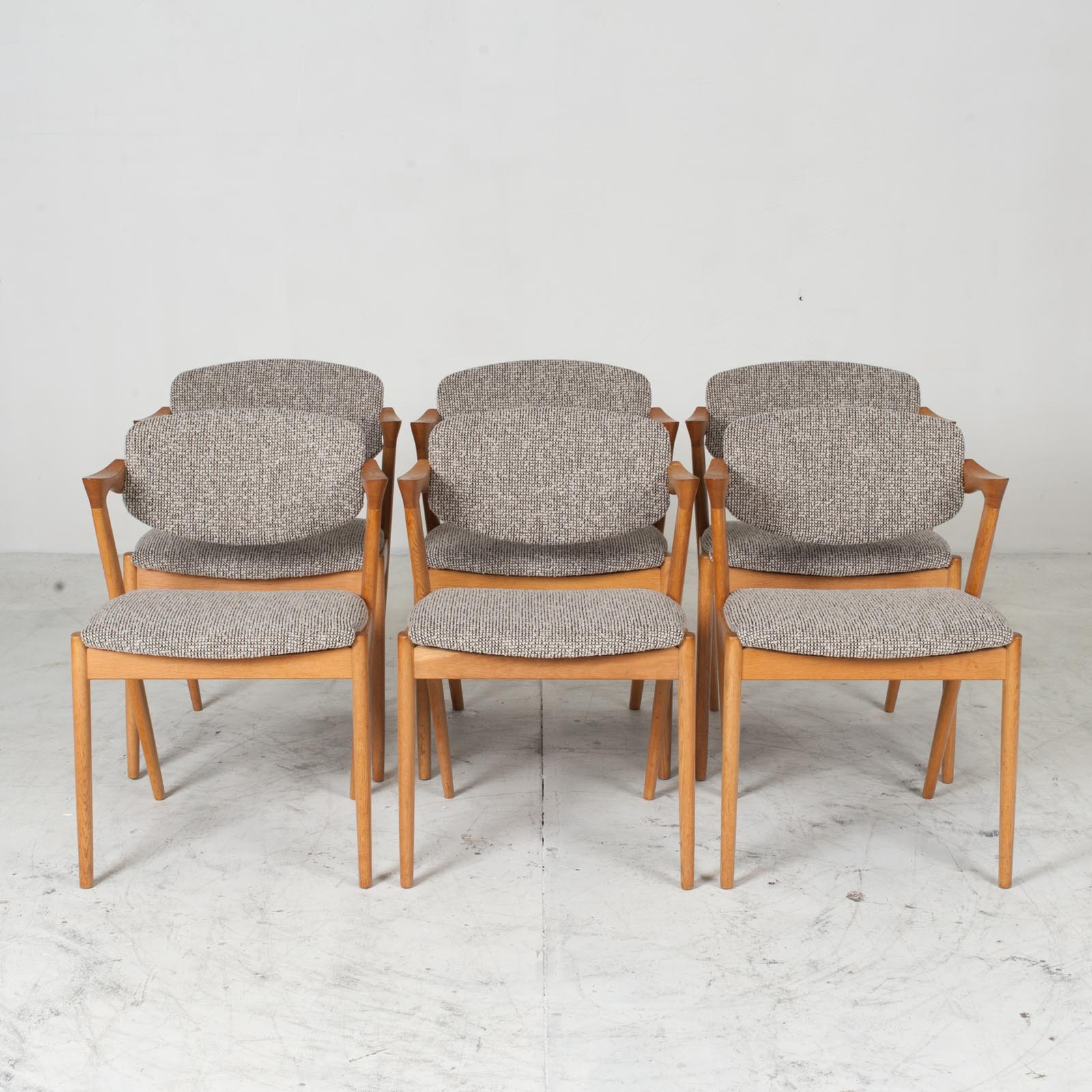 Set 6 No. 42 Dining Chairs By Kai Kristiansen In Oak 1960s Denmark 011