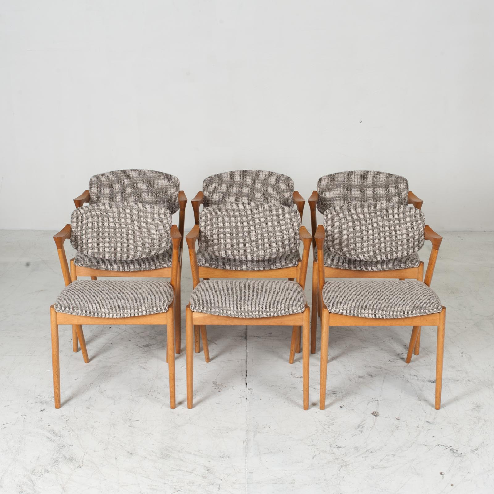 Set 6 No. 42 Dining Chairs By Kai Kristiansen In Oak 1960s Denmark 012