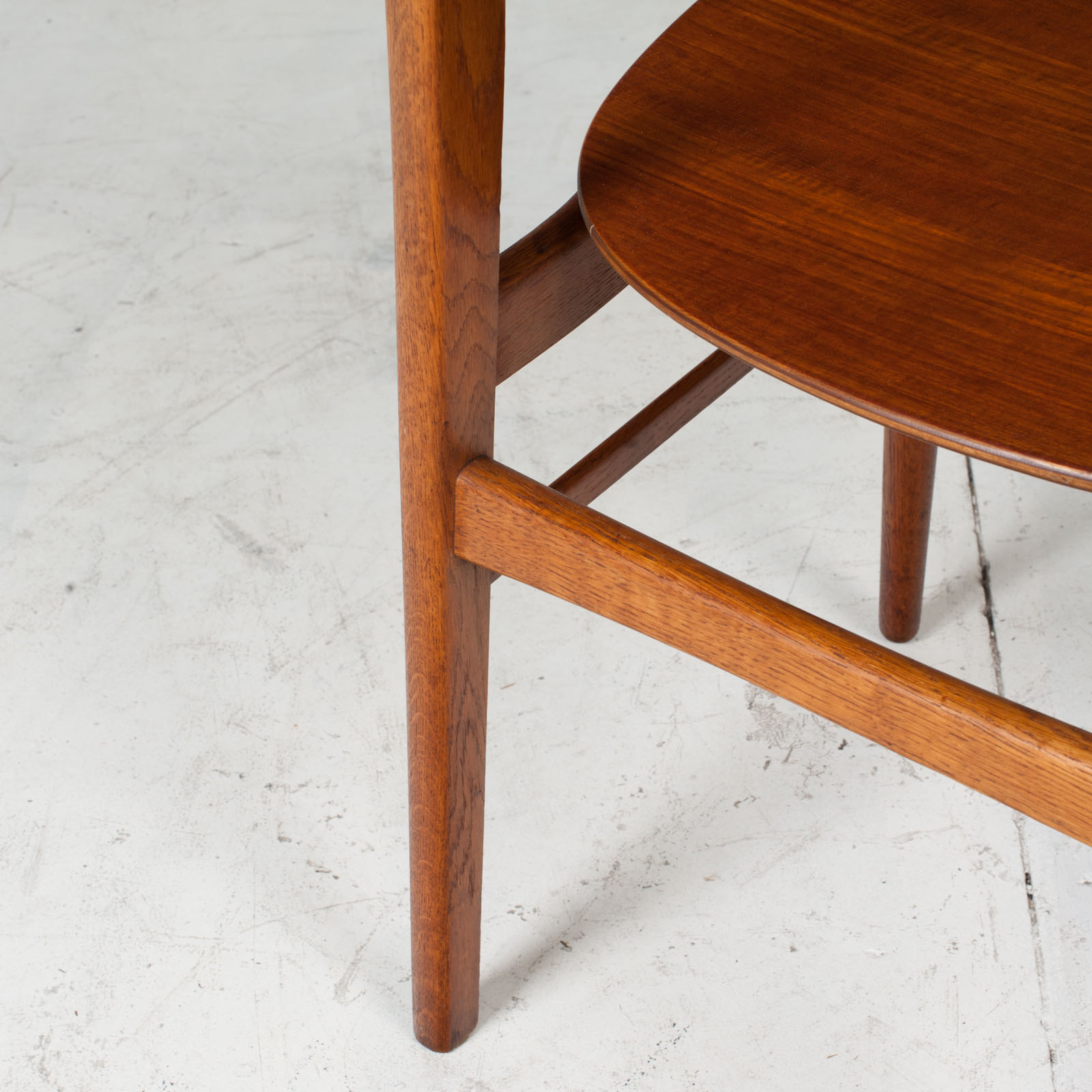 Set Of 4 Round Back Dining Chairs In Teak 1960s Denmark16