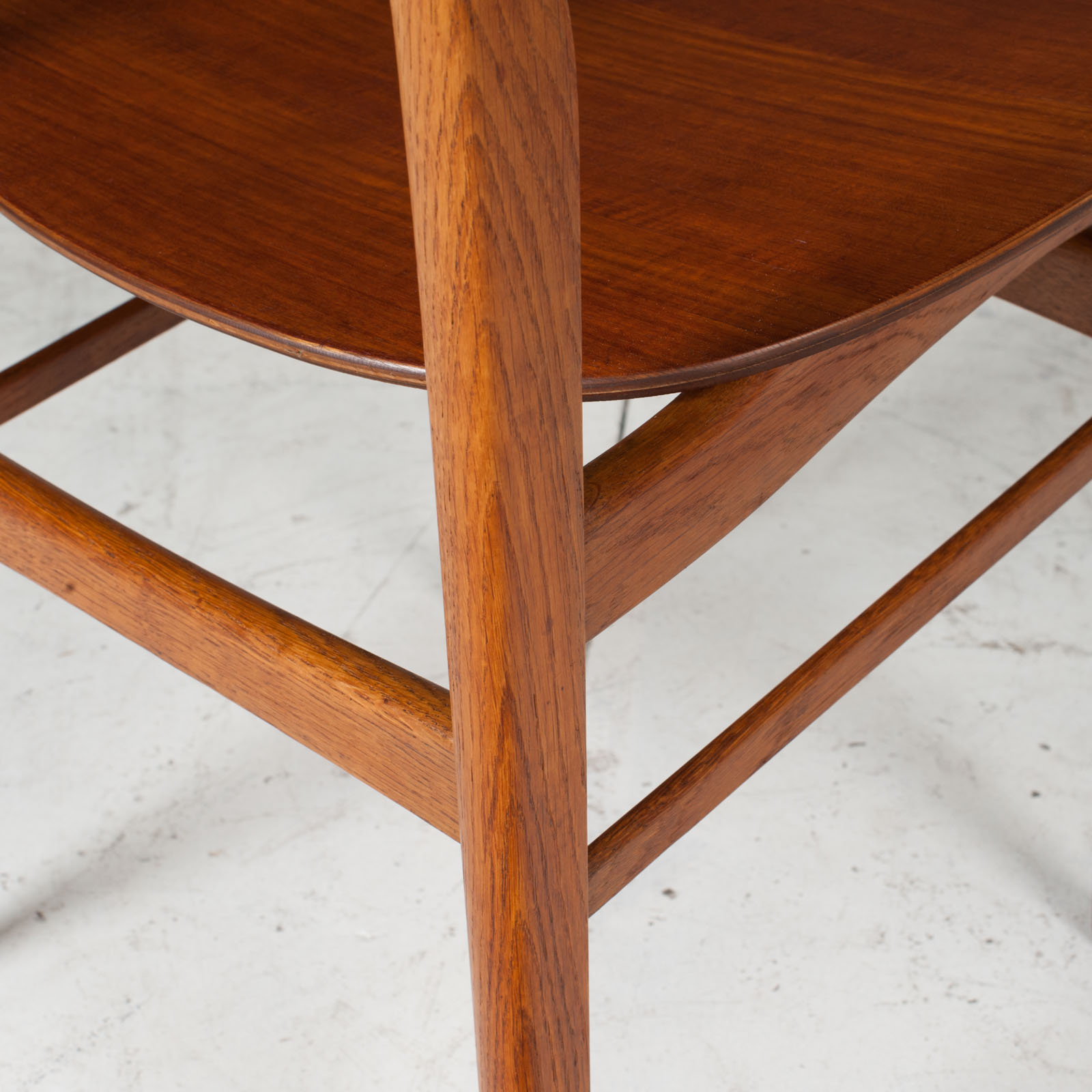 Set Of 4 Round Back Dining Chairs In Teak 1960s Denmark17
