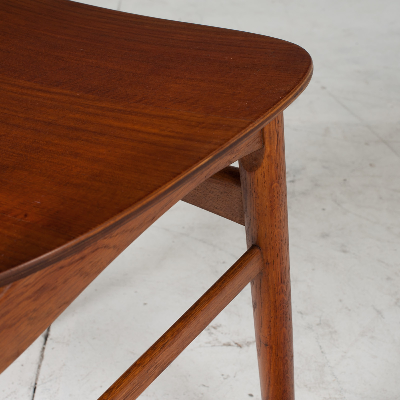 Set Of 4 Round Back Dining Chairs In Teak 1960s Denmark18