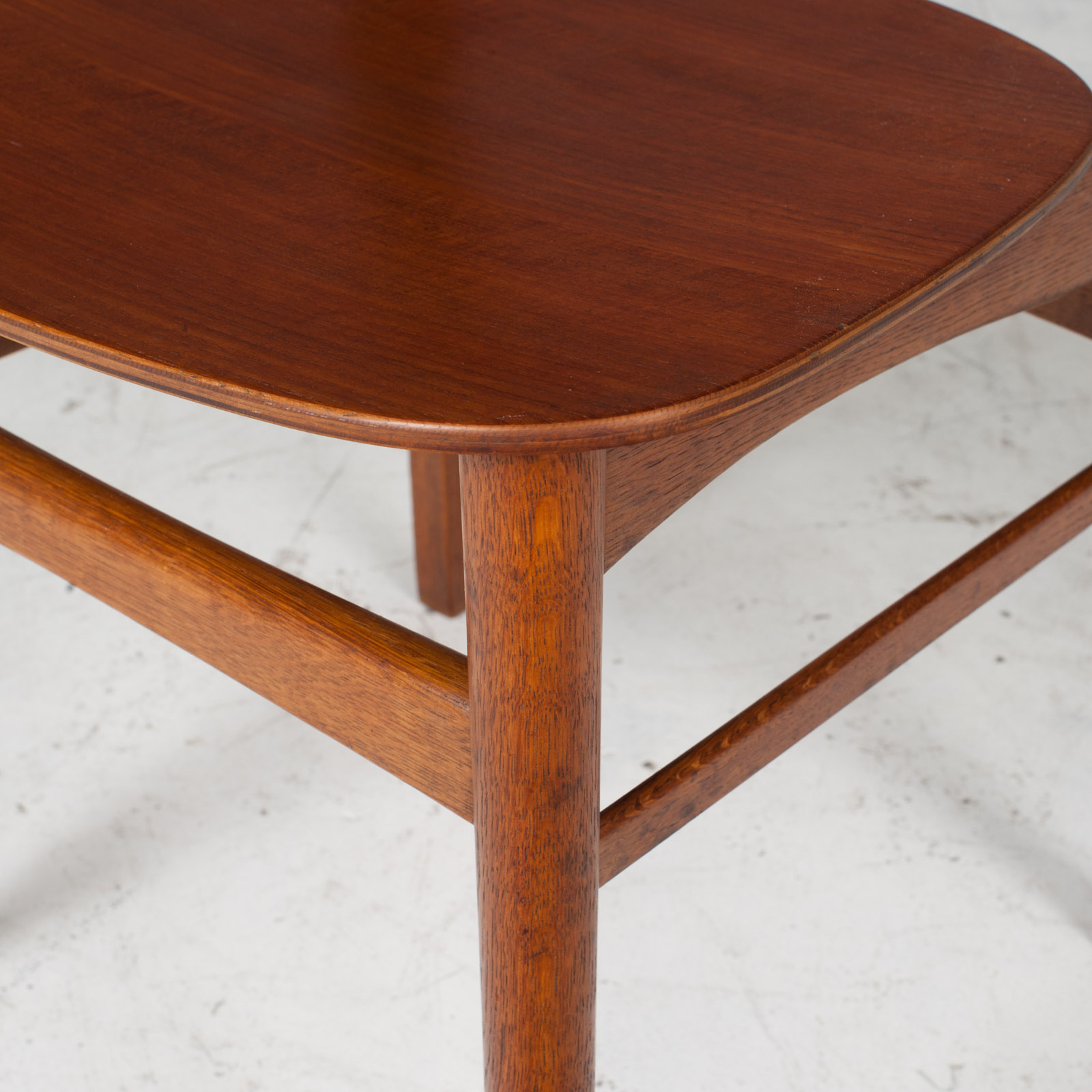 Set Of 4 Round Back Dining Chairs In Teak 1960s Denmark5
