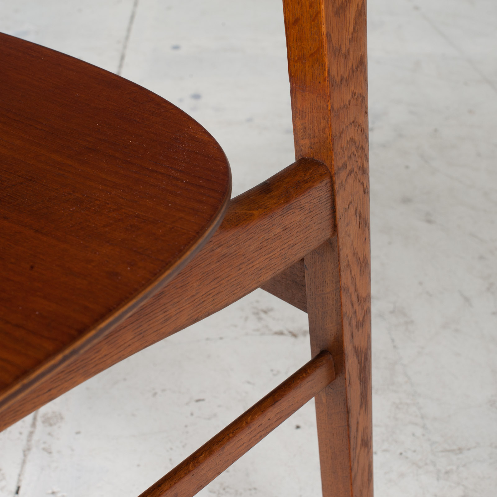 Set Of 4 Round Back Dining Chairs In Teak 1960s Denmark6