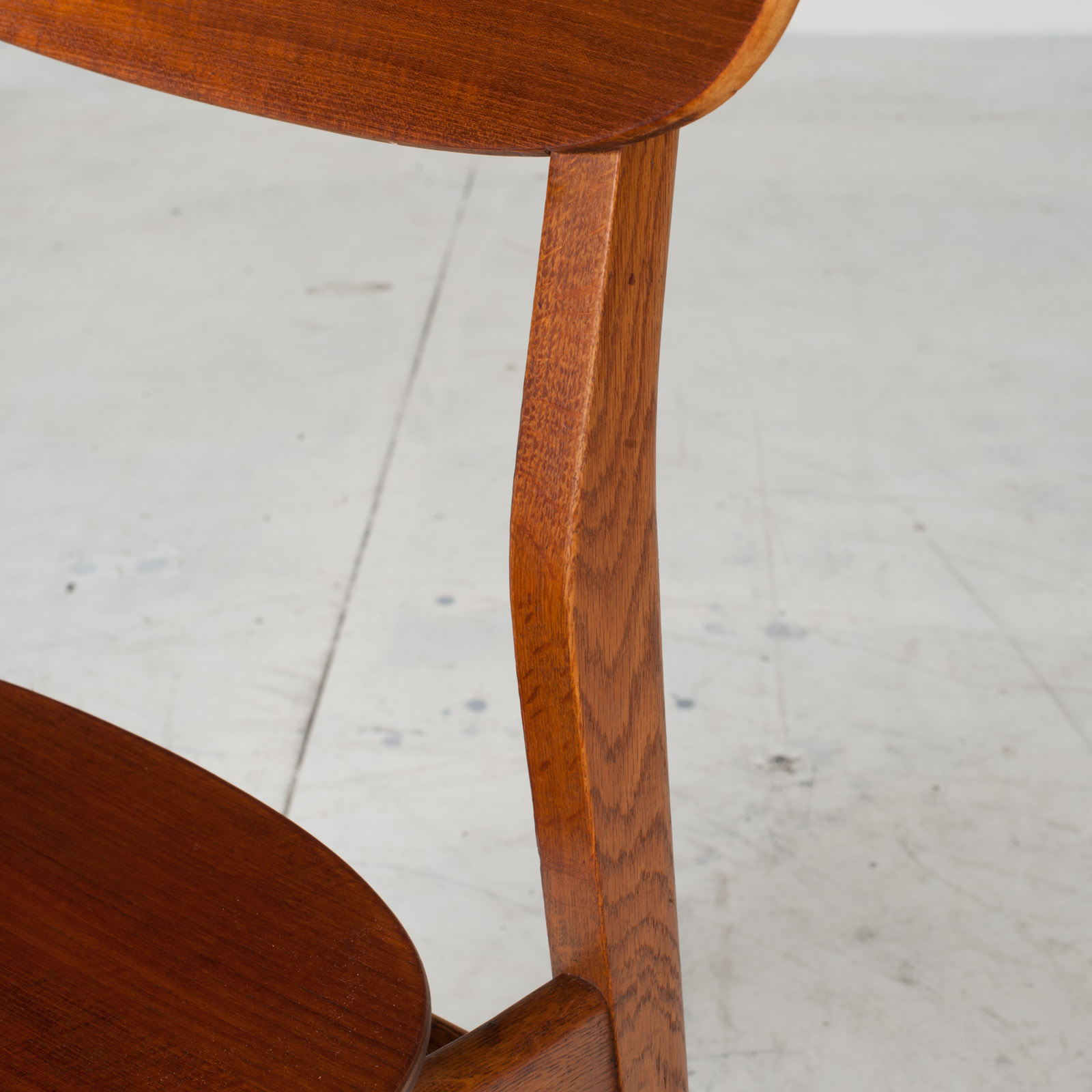 Set Of 4 Round Back Dining Chairs In Teak 1960s Denmark9
