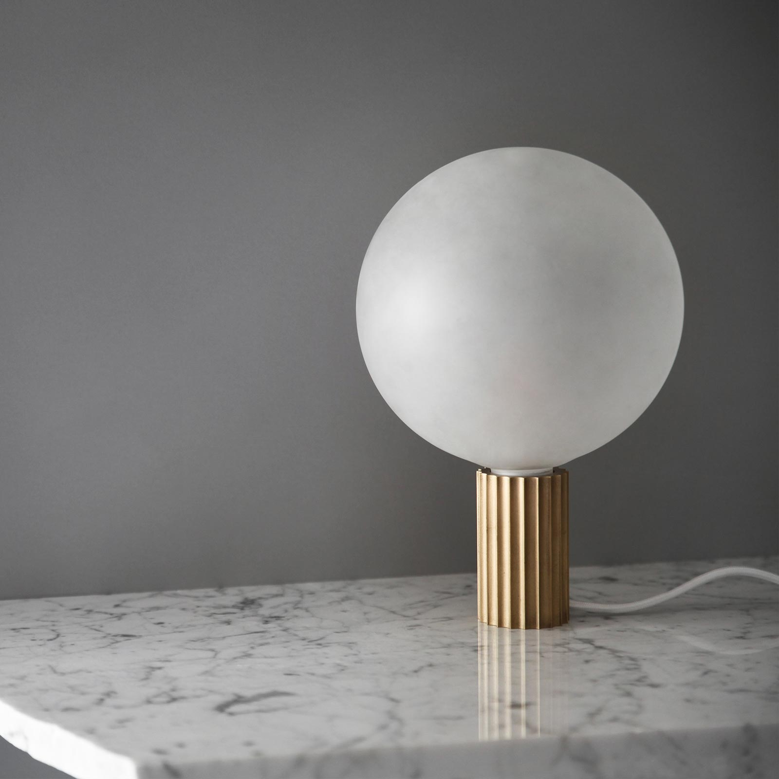 Attalos Table Lamp In Brass By Marz Designs Hero