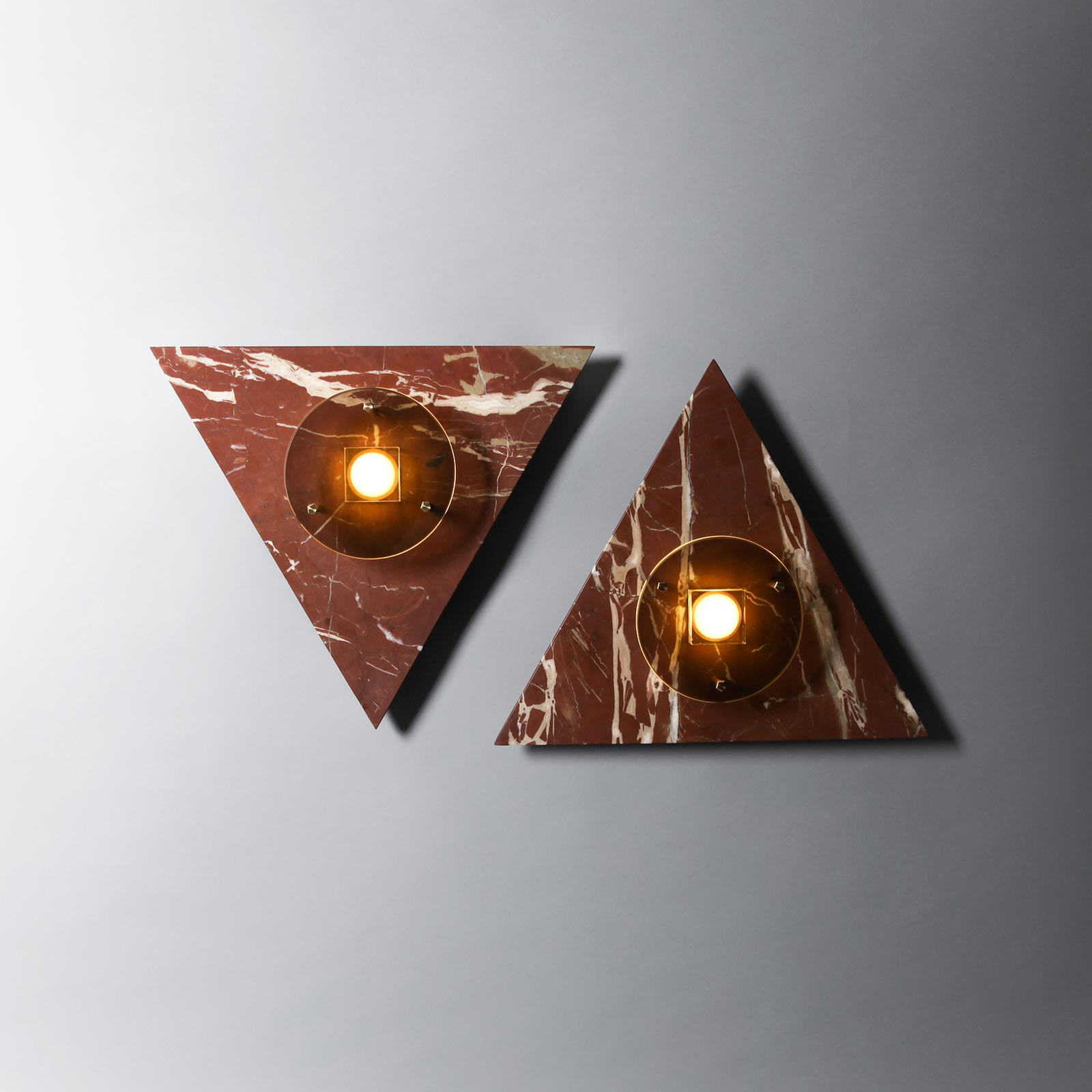 Bermuda Wall Light In Ochre Marble And Brass By Marz Designs 1