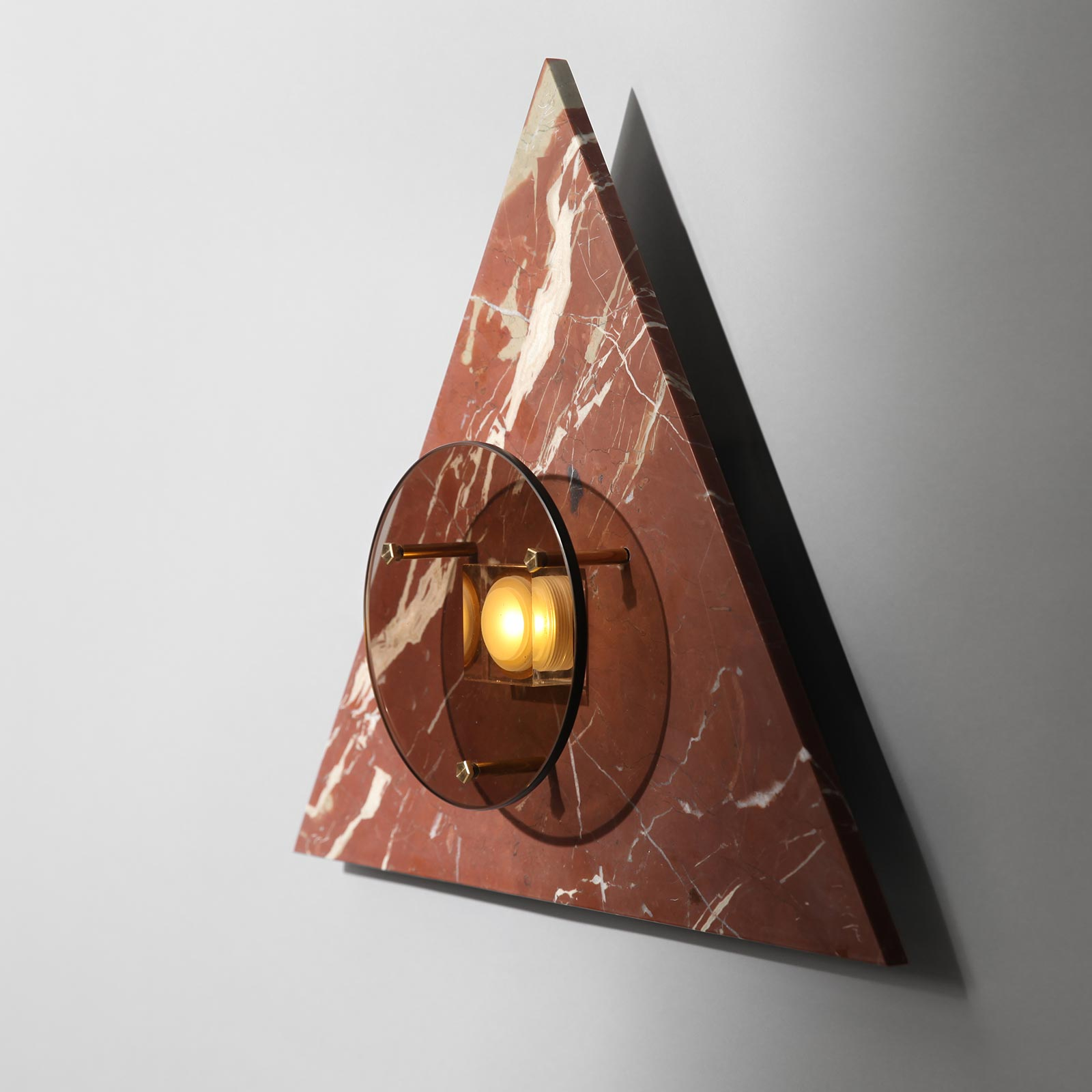 Bermuda Wall Light In Ochre Marble And Brass By Marz Designs 2