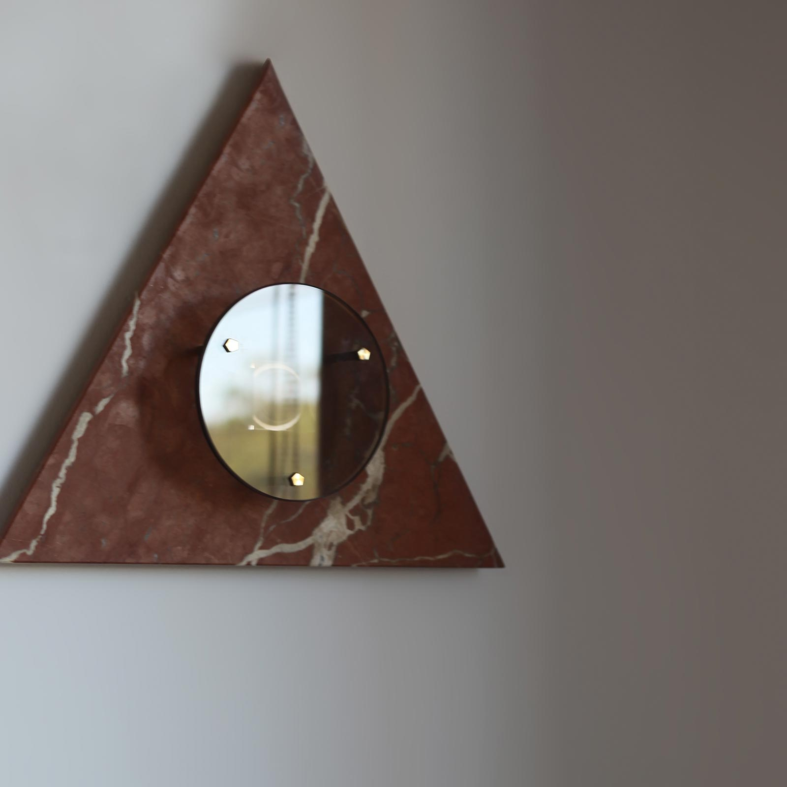 Bermuda Wall Light In Ochre Marble And Brass By Marz Designs 3