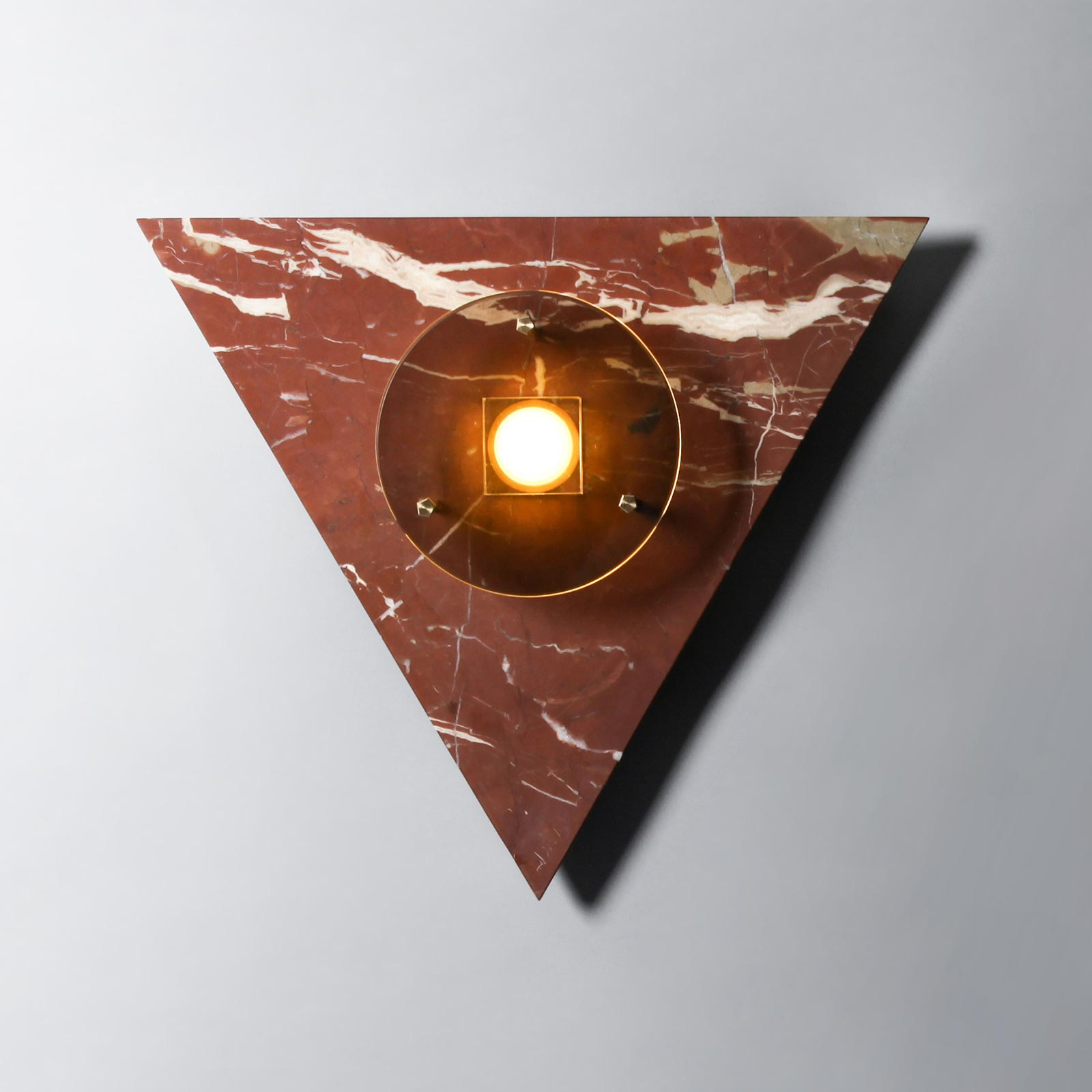 Bermuda Wall Light In Ochre Marble And Brass By Marz Designs Hero