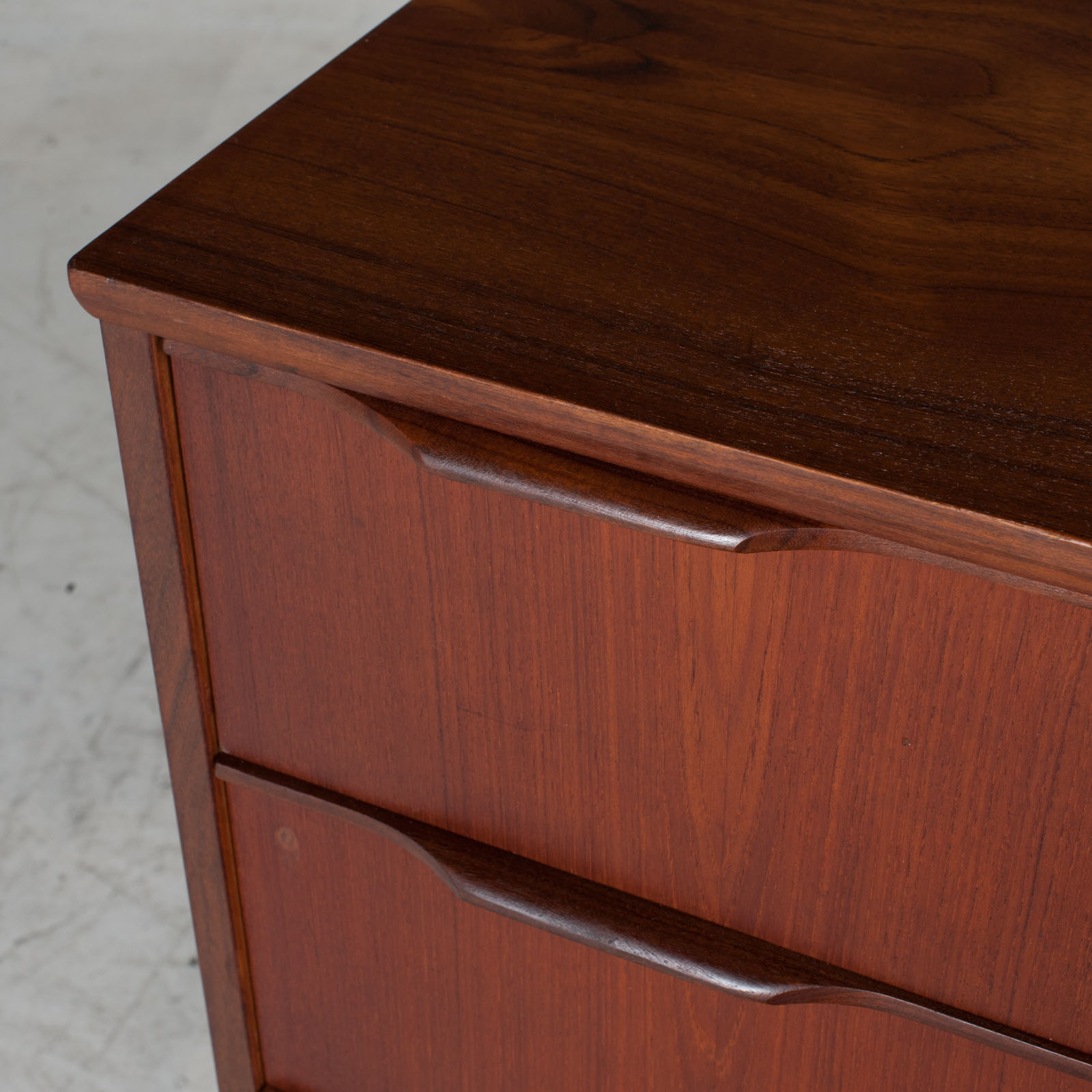 Chest With Four Drawers In Teak, 1960s, Denmark 6