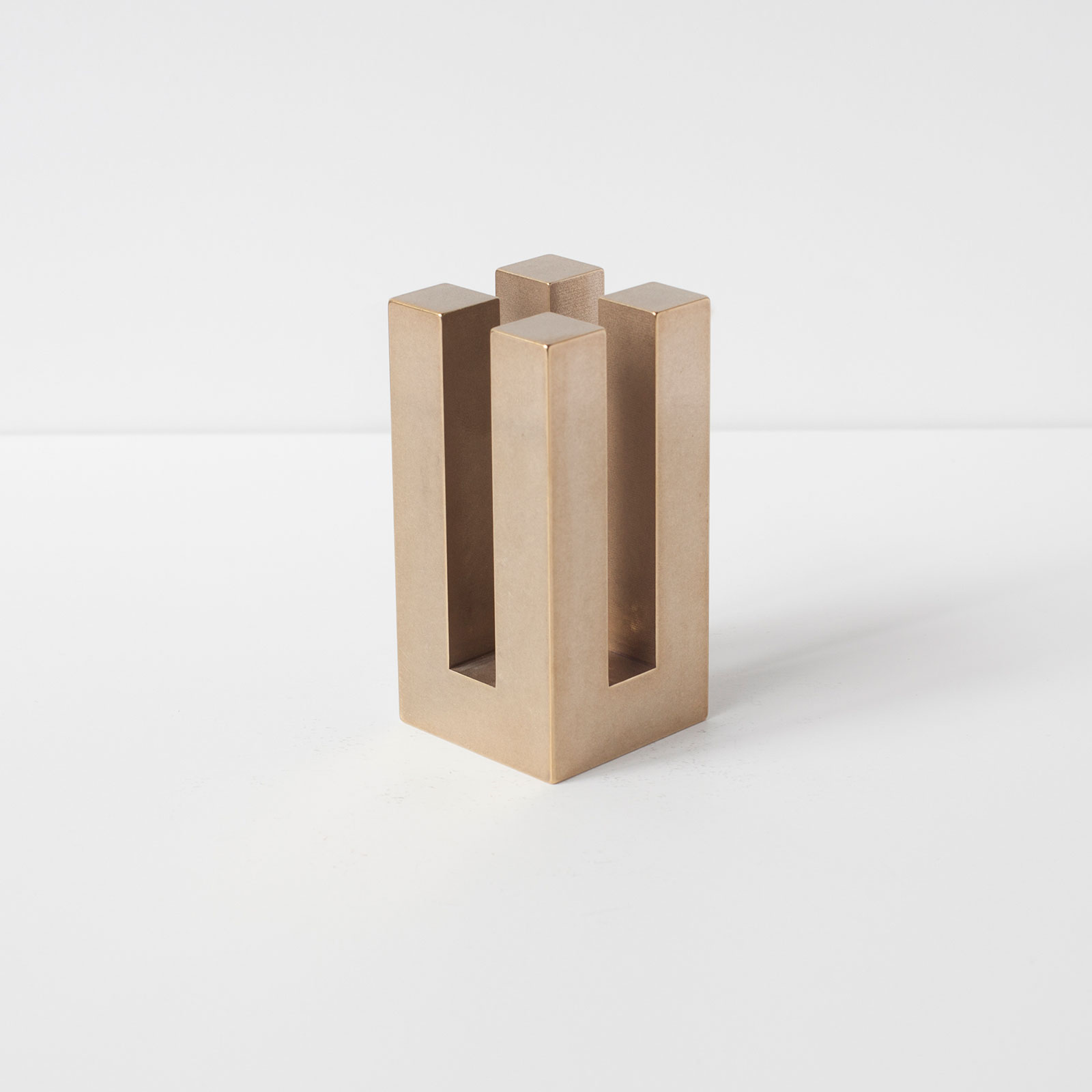 Jeff Tall Candle Holder Brass By Studio Acs Hero 1