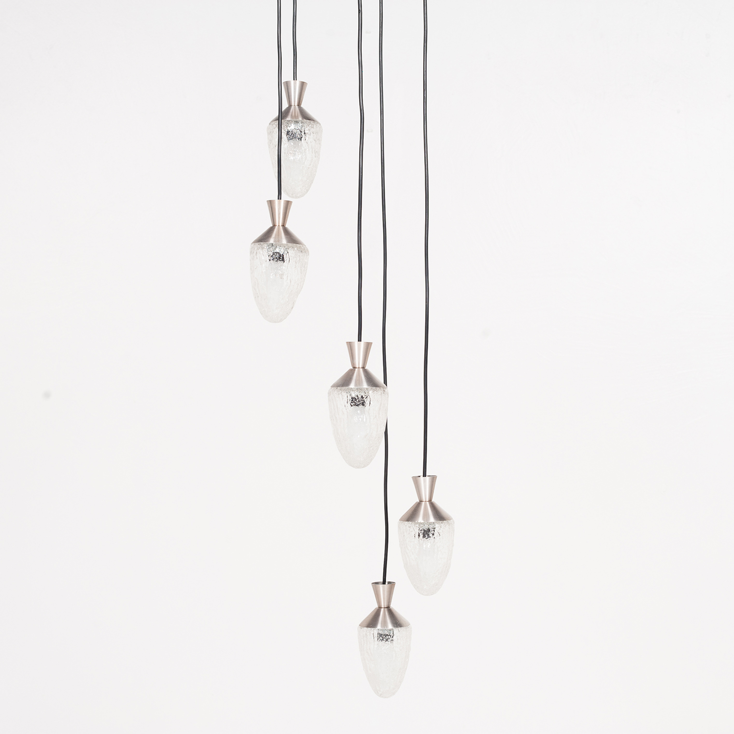 5 Piece Pendant With Frosted Glass Bulbs, 1960s, The Netherlands 37