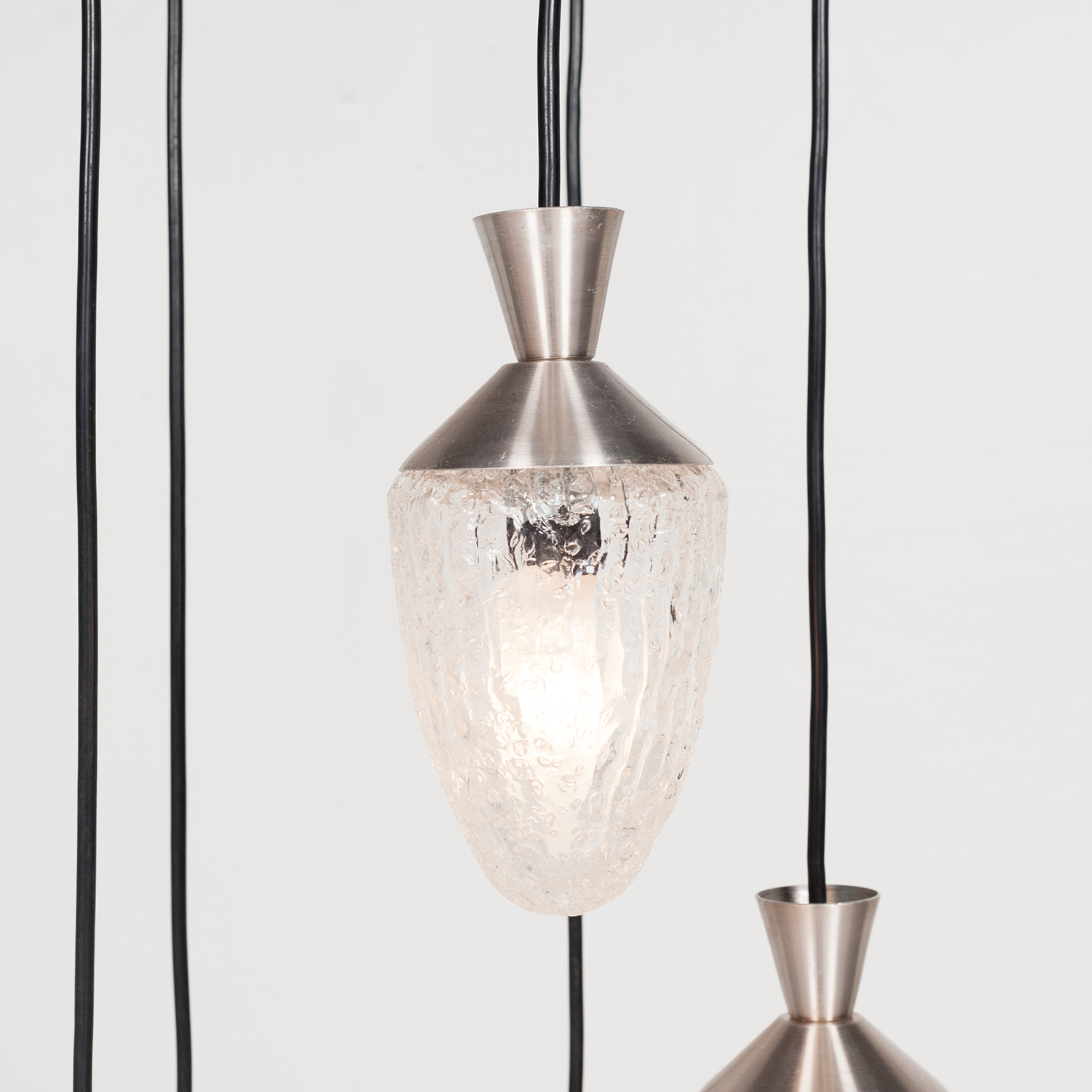 5 Piece Pendant With Frosted Glass Bulbs, 1960s, The Netherlands 50