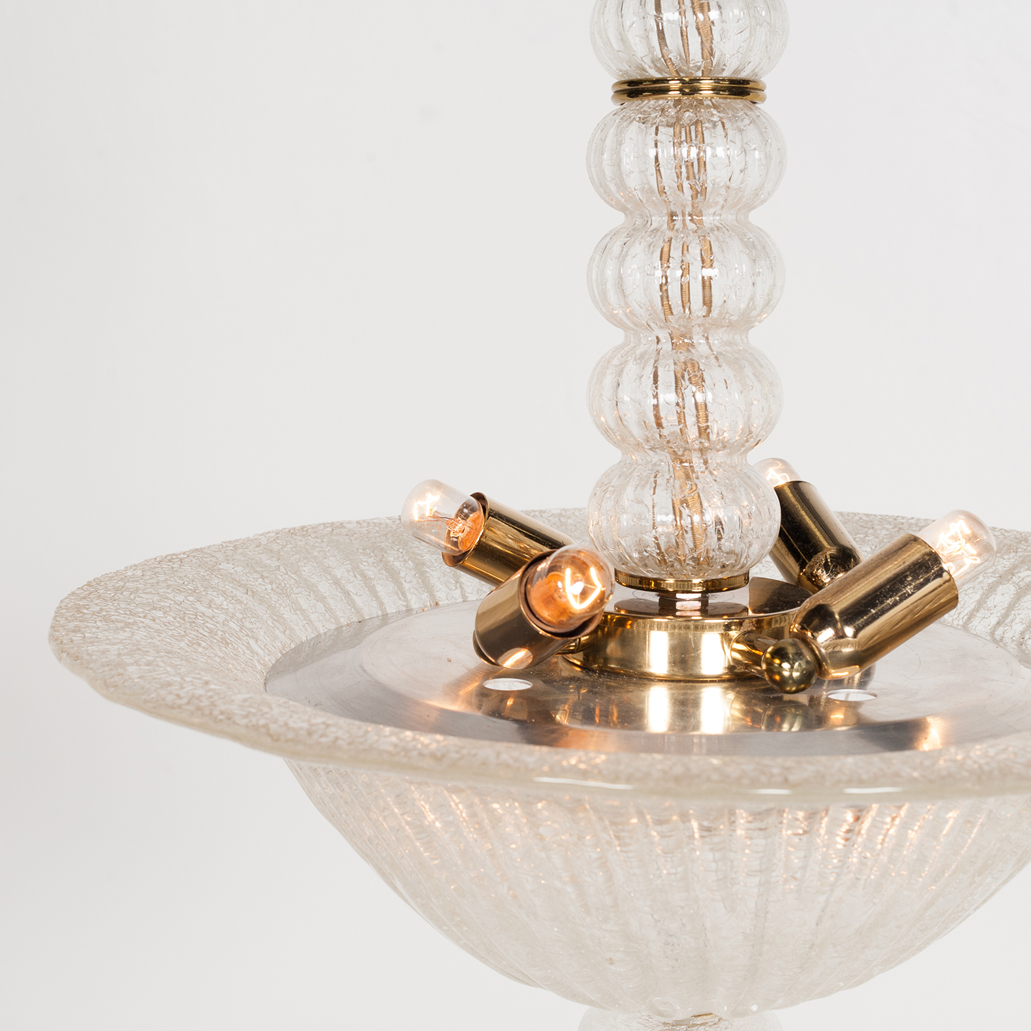 Murano Glass Pendant In The Style Of Barovier & Toso, 1950s, Italy 87