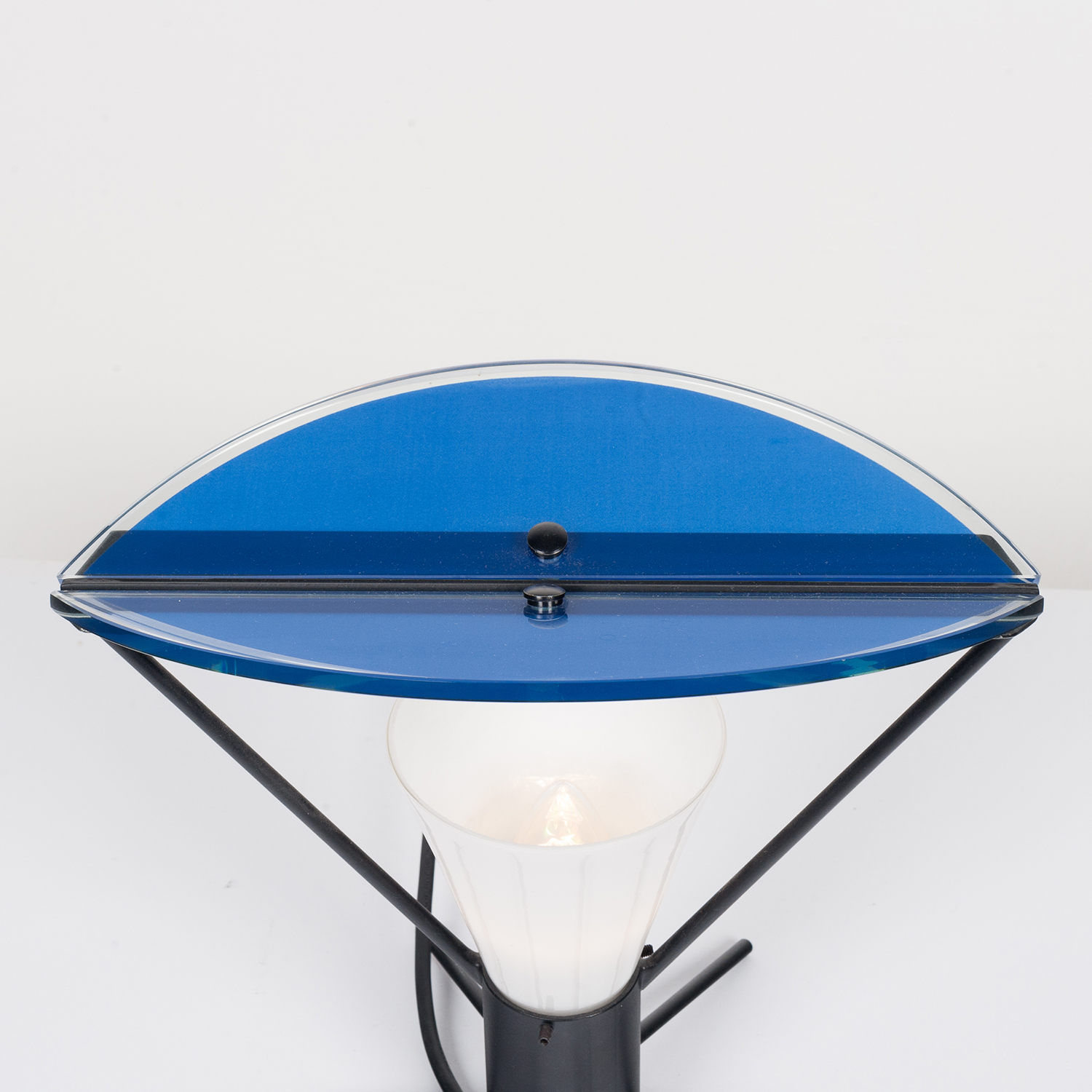 Pair Of Memphis Style Table Lamps In Murano Glass, 1980s, Italy 22