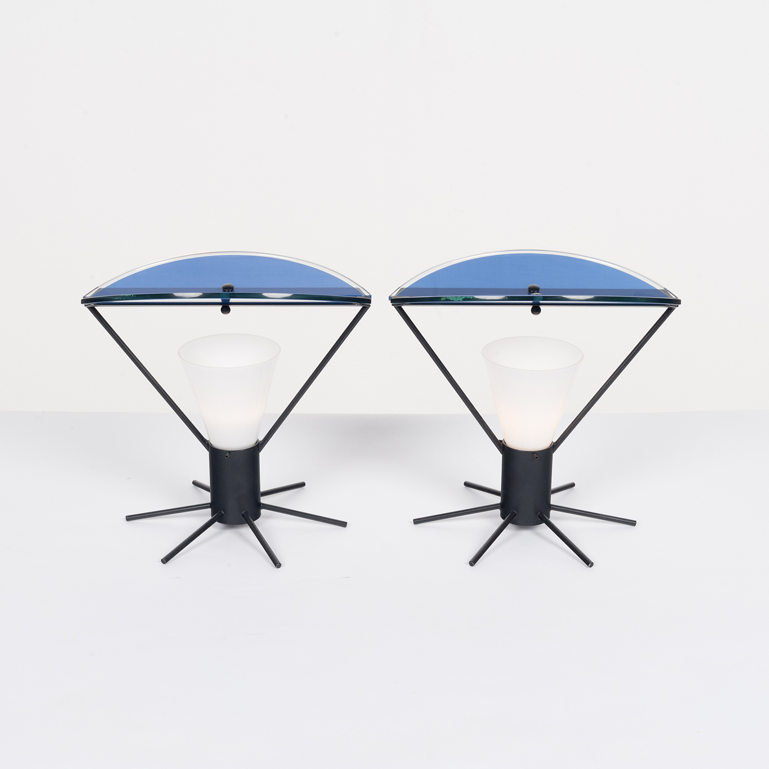 Pair Of Memphis Style Table Lamps In Murano Glass, 1980s, Italy 23