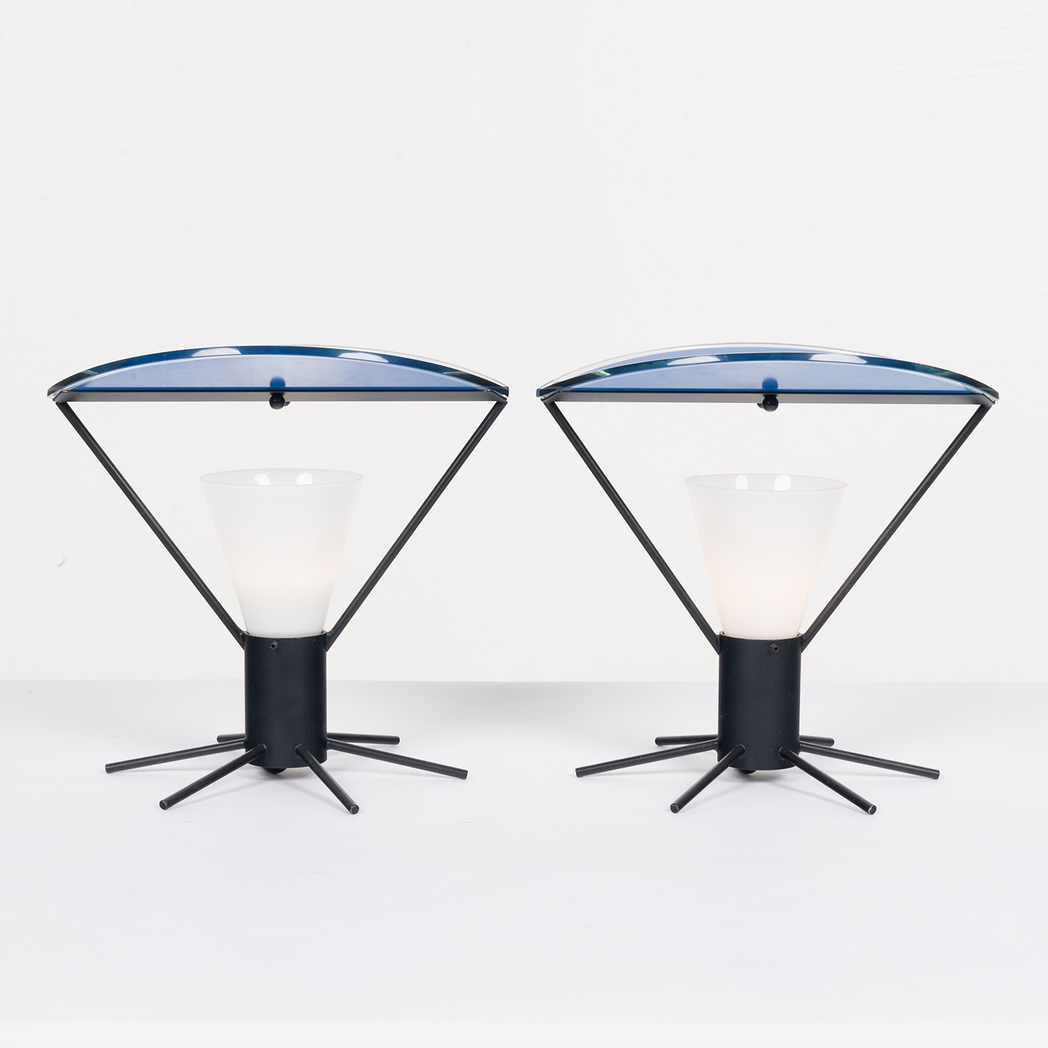 Pair Of Memphis Style Table Lamps In Murano Glass, 1980s, Italy 24