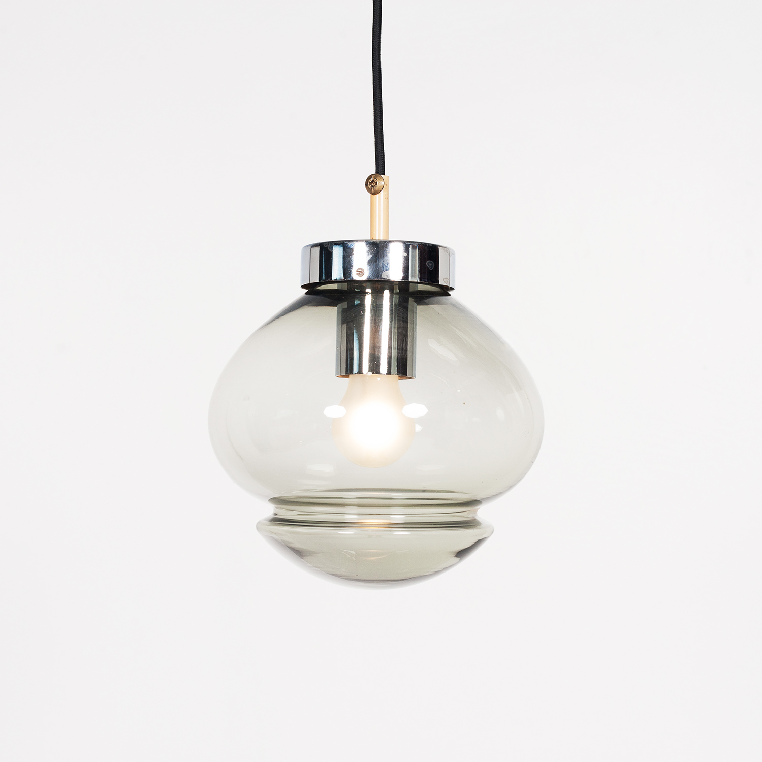 Pendant By Raak In Smoked Glass, 1970s, The Netherlands 1