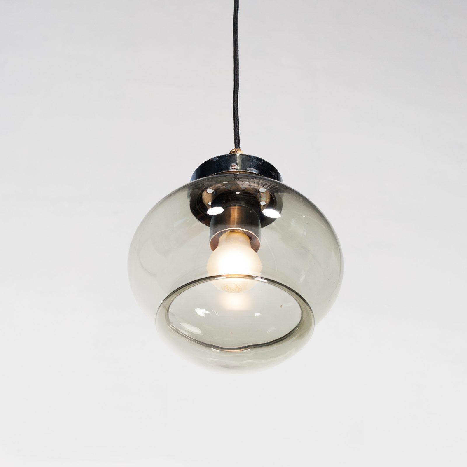 Pendant By Raak In Smoked Glass, 1970s, The Netherlands 2