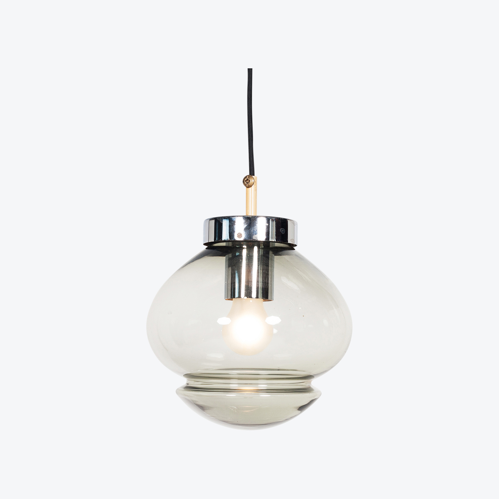 Pendant By Raak In Smoked Glass, 1970s, The Netherlands Hero