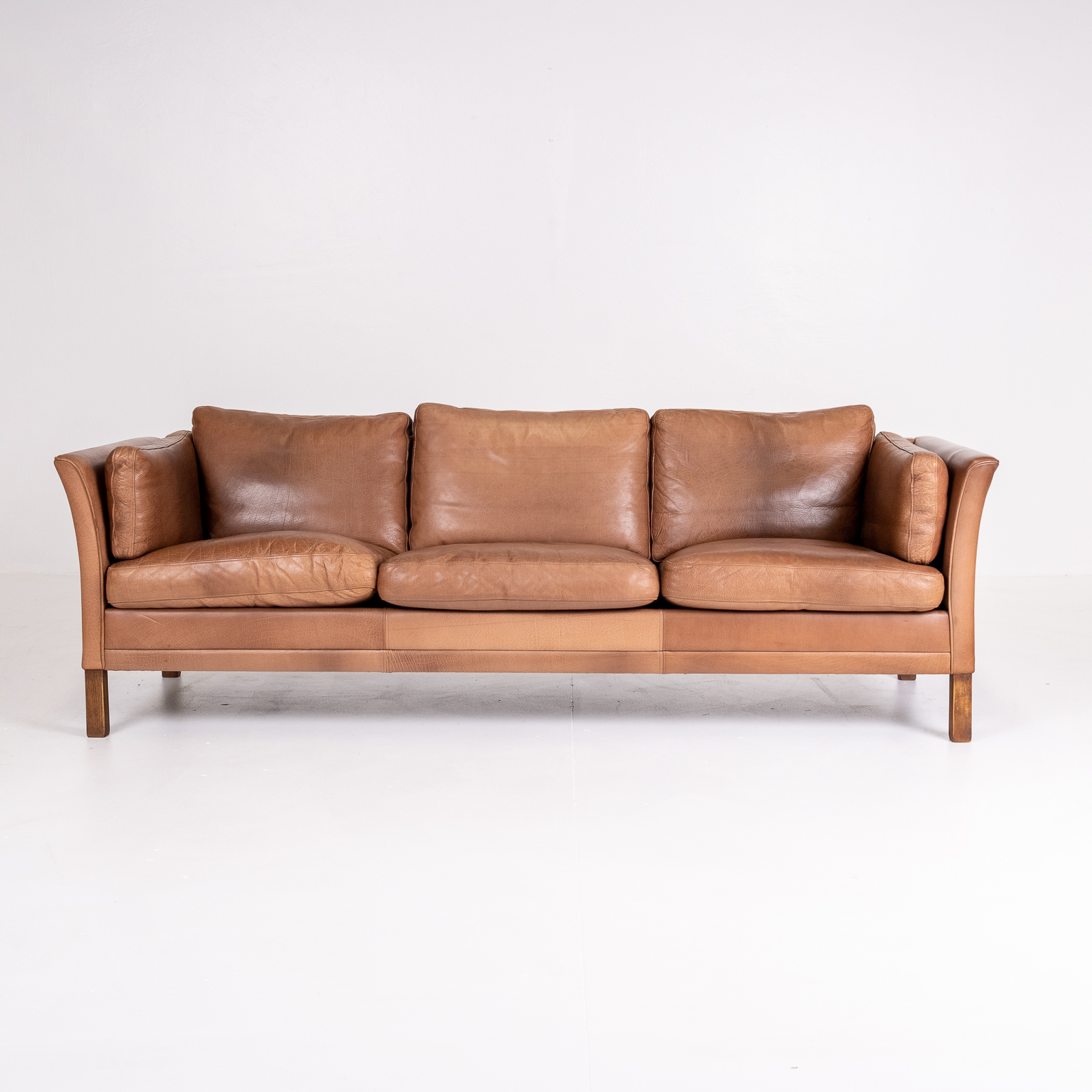 3 Seat Sofa In Brown Leather, 1960s, Denmark01