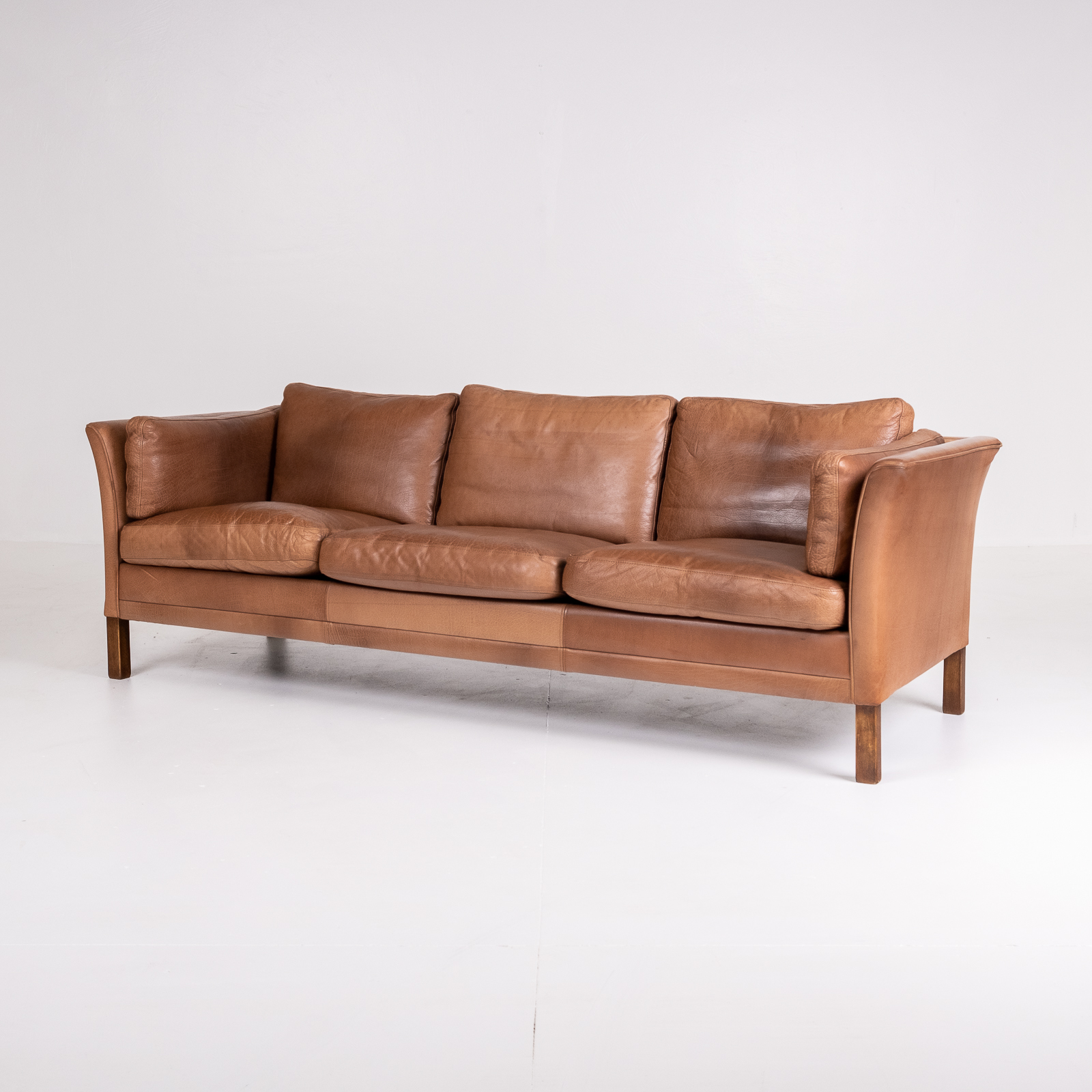 3 Seat Sofa In Brown Leather, 1960s, Denmark02