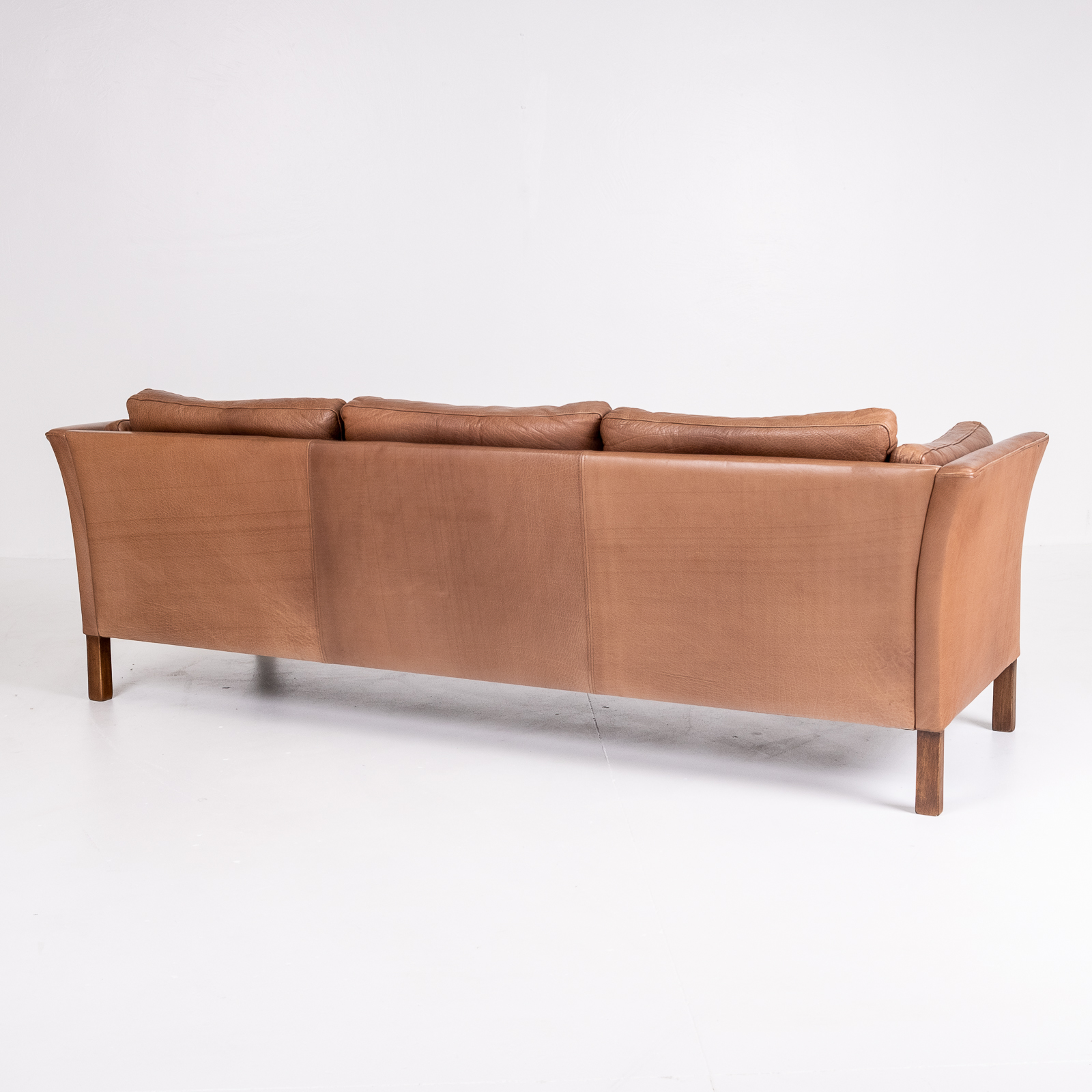 3 Seat Sofa In Brown Leather, 1960s, Denmark06