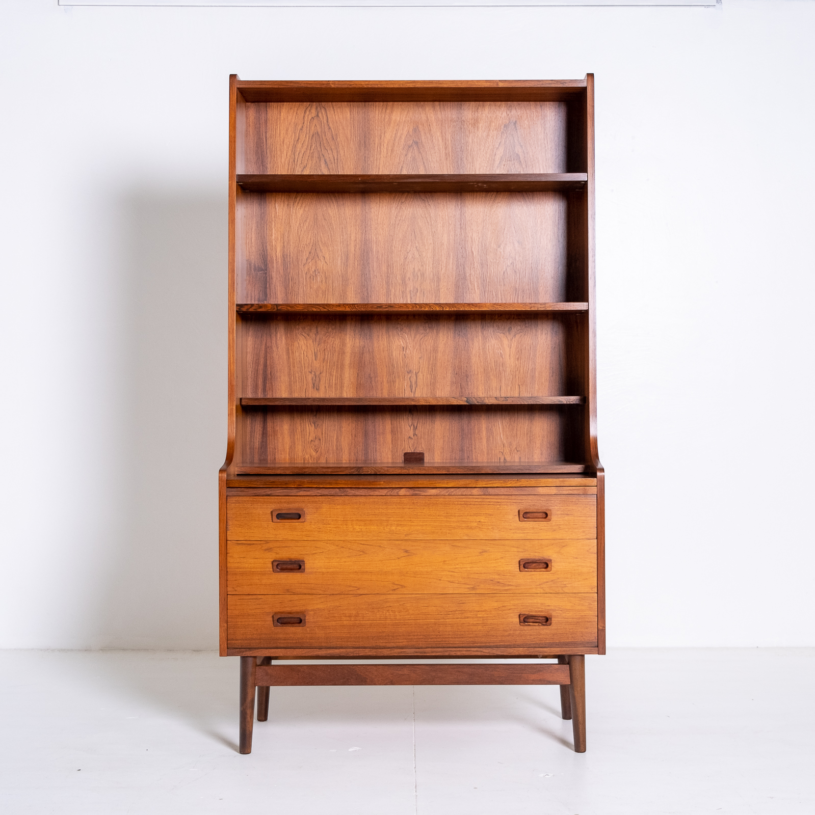 Bookshelf With Drawers In Rosewood, 1960s, Denmark 01