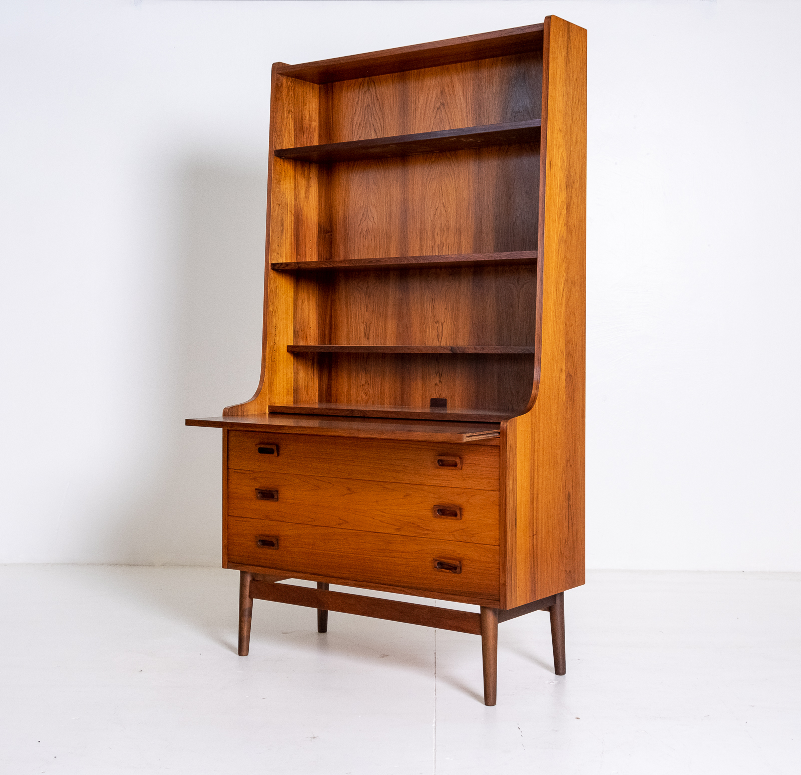 Bookshelf With Drawers In Rosewood, 1960s, Denmark 03