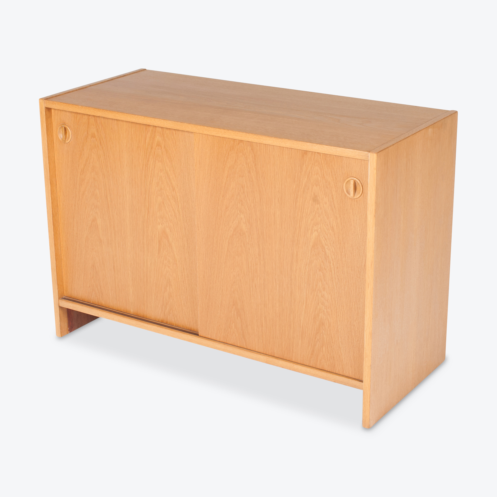 Cabinet In Oak With Sliding Doors, 1960s, Denmark Hero 1