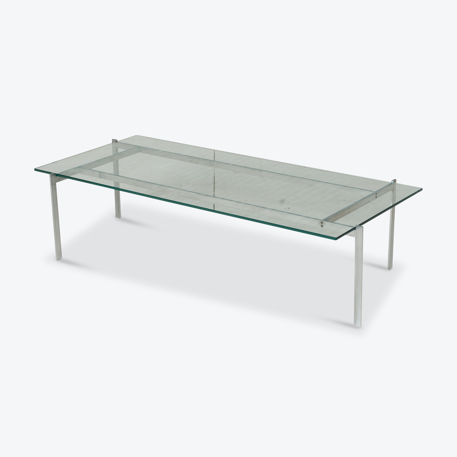 Coffee Table In The Style Of Poul Kjaerholm With Chrome And Glass, 1960s, Netherlands