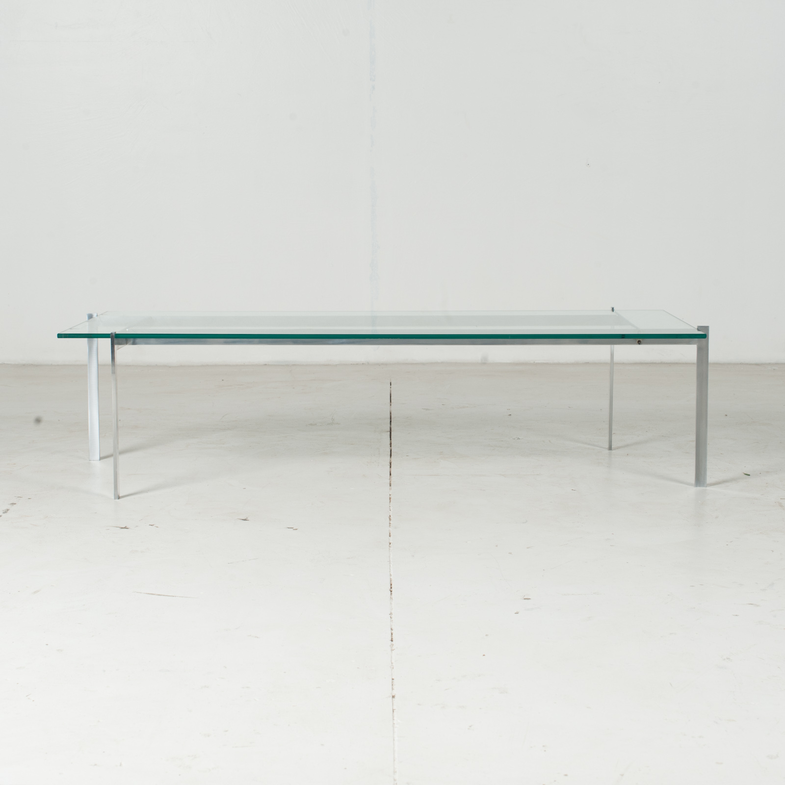 Coffee Table In The Style Of Poul Kjaerholm With Chrome And Glass, 1960s, Netherlands1