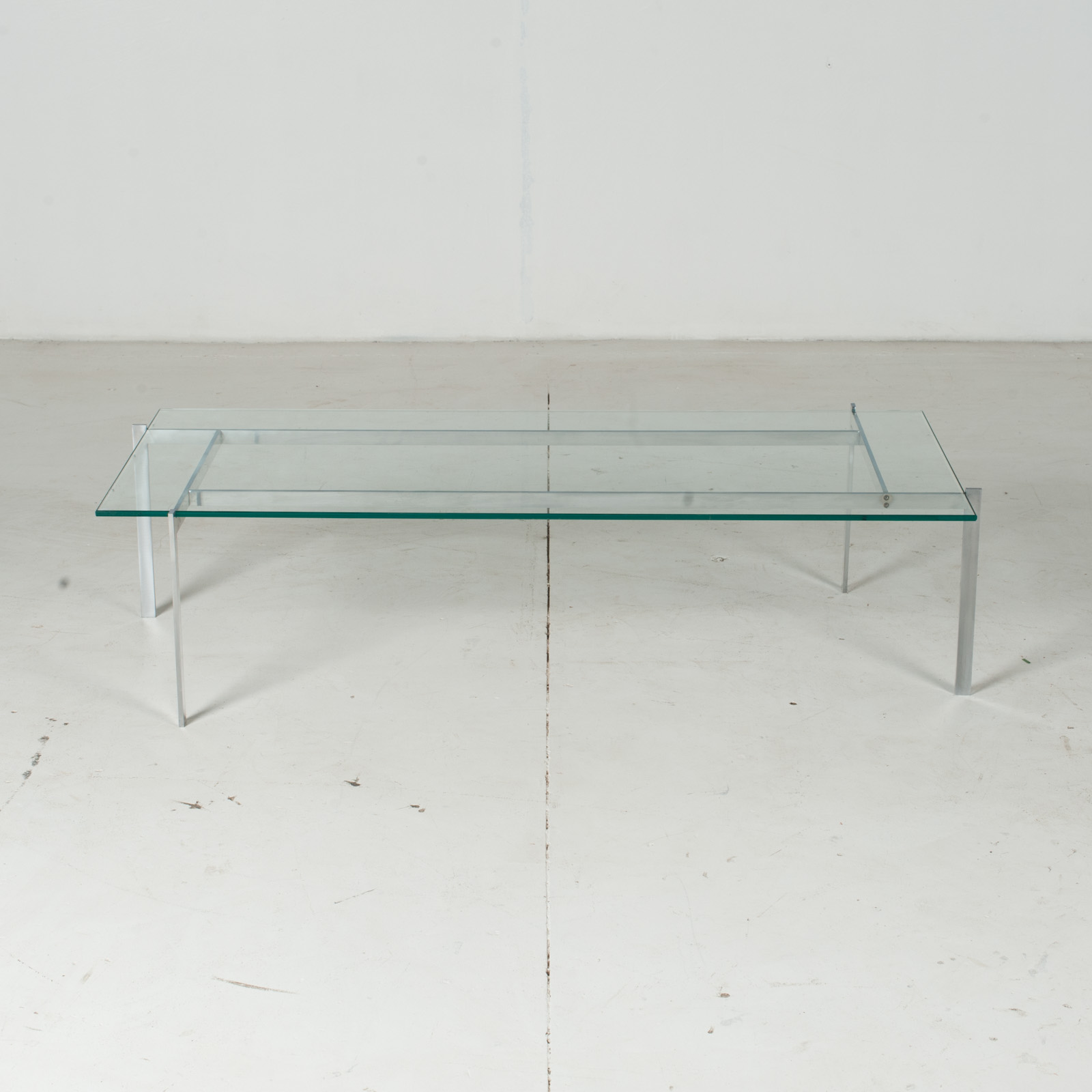 Coffee Table In The Style Of Poul Kjaerholm With Chrome And Glass, 1960s, Netherlands2