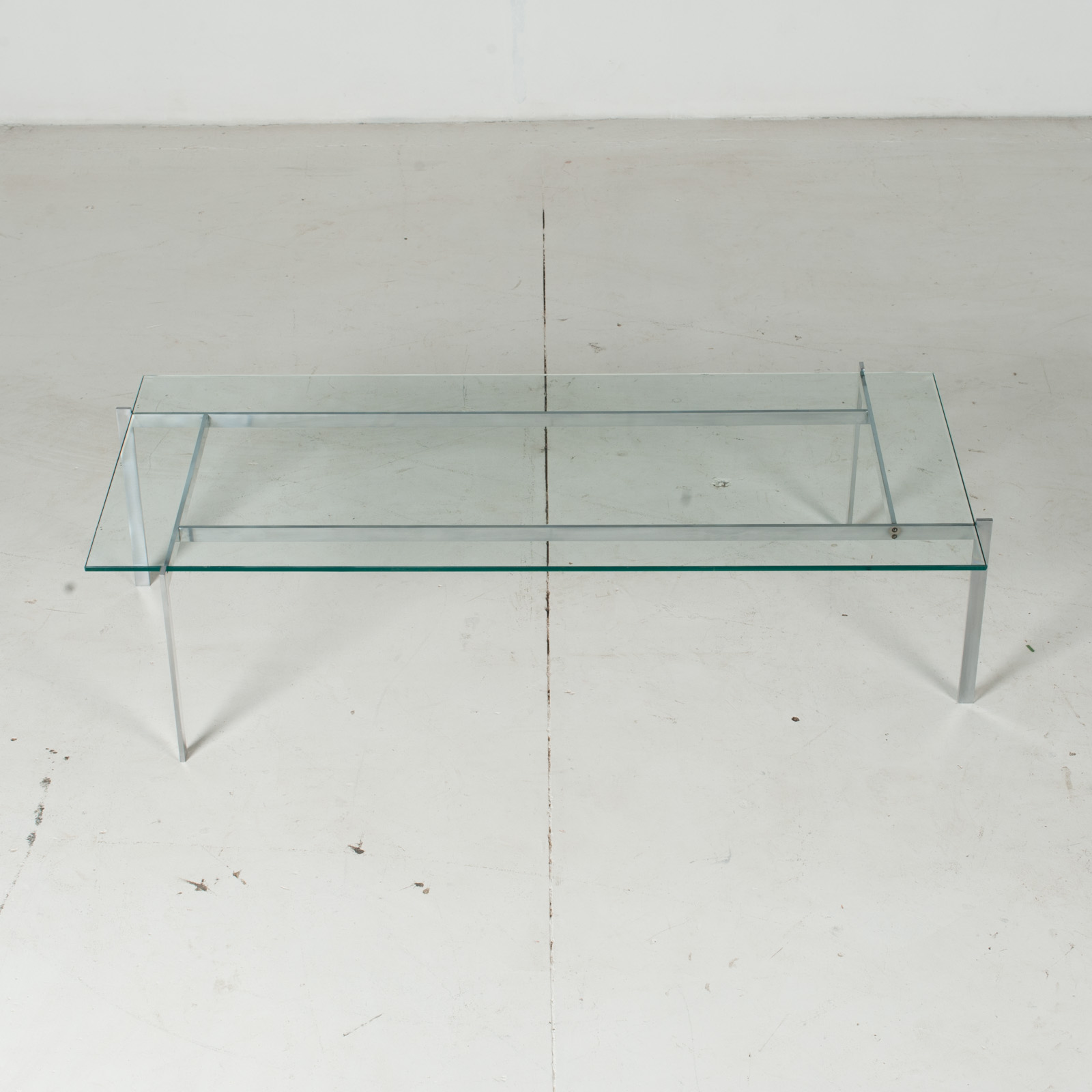 Coffee Table In The Style Of Poul Kjaerholm With Chrome And Glass, 1960s, Netherlands3