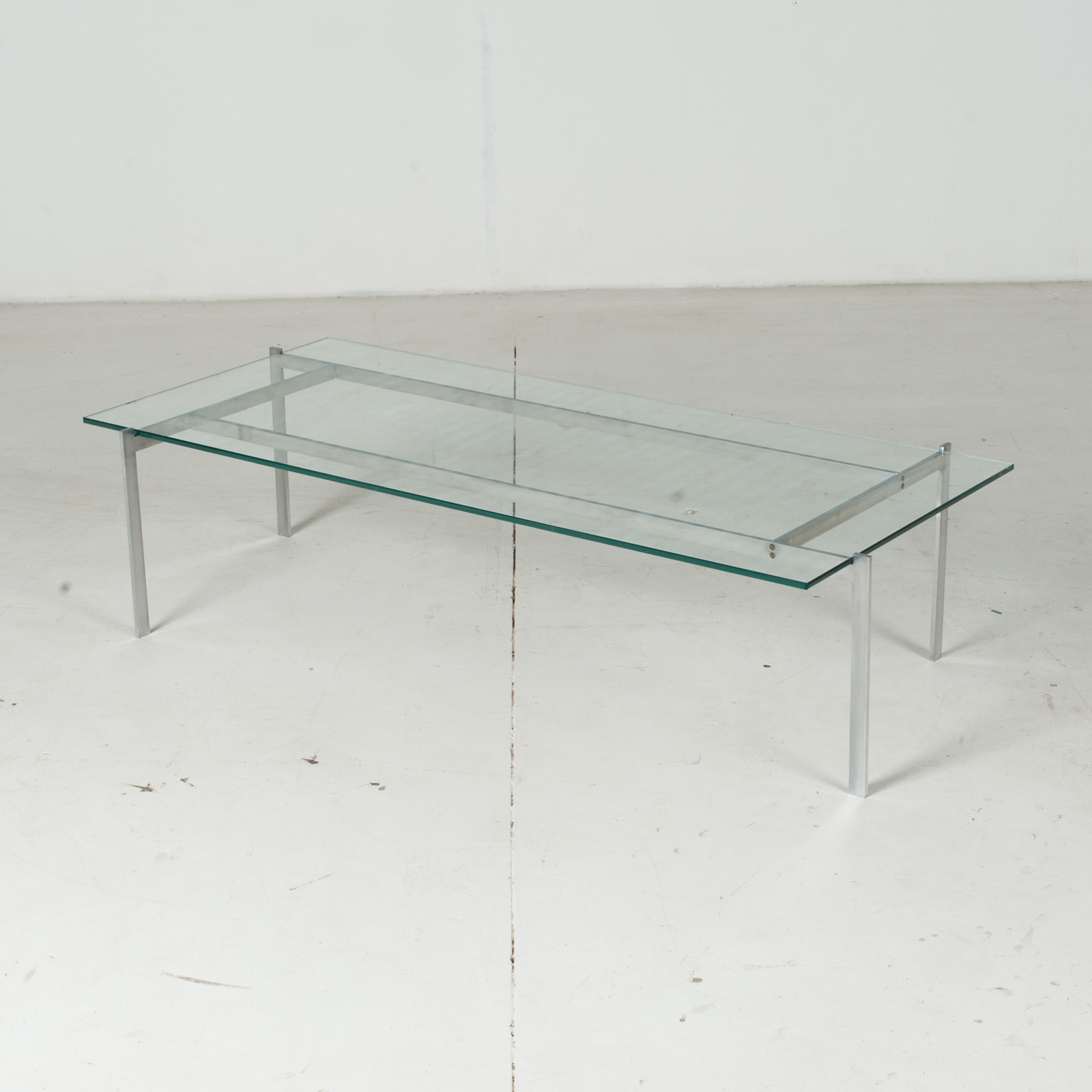 Coffee Table In The Style Of Poul Kjaerholm With Chrome And Glass, 1960s, Netherlands4