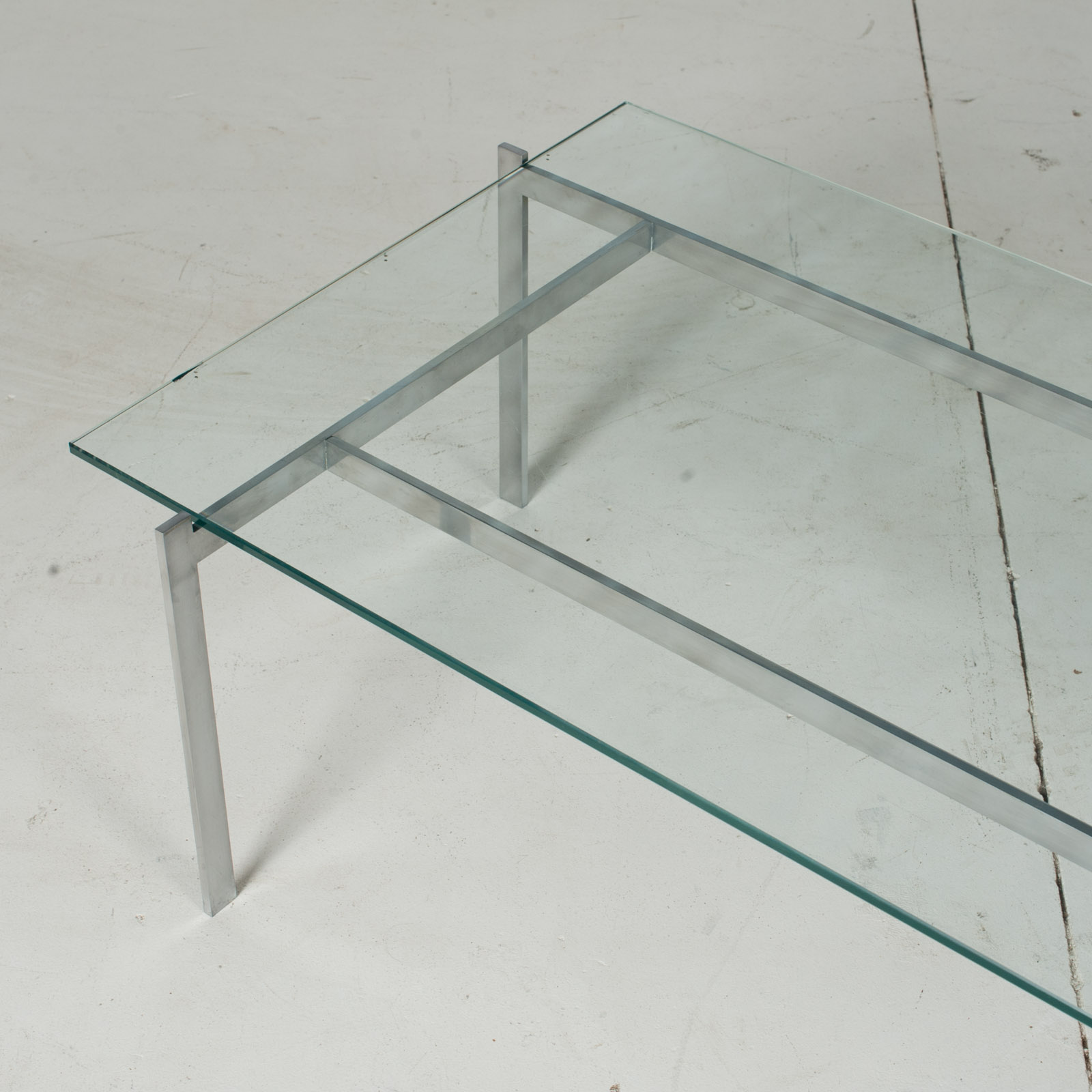 Coffee Table In The Style Of Poul Kjaerholm With Chrome And Glass, 1960s, Netherlands5