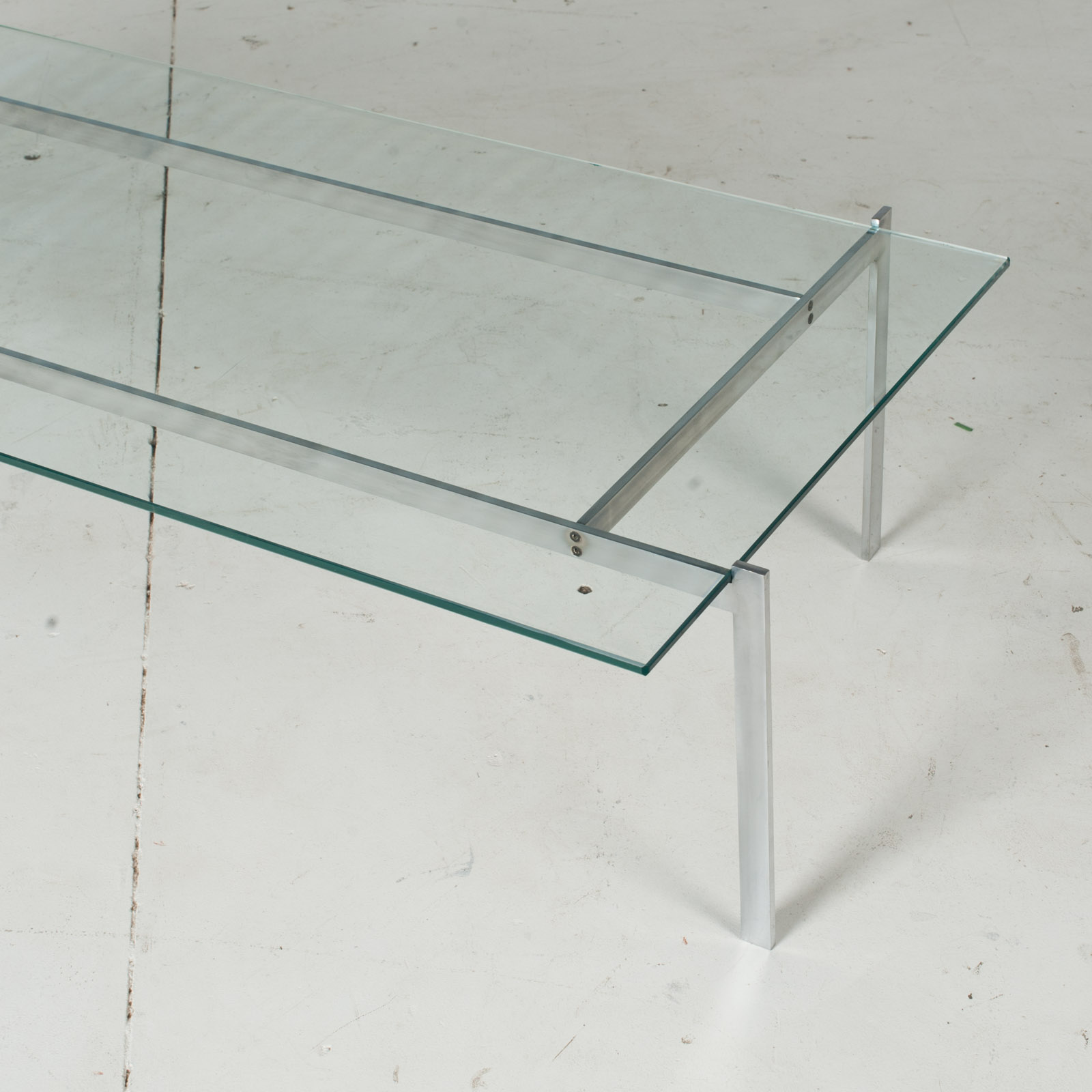 Coffee Table In The Style Of Poul Kjaerholm With Chrome And Glass, 1960s, Netherlands6
