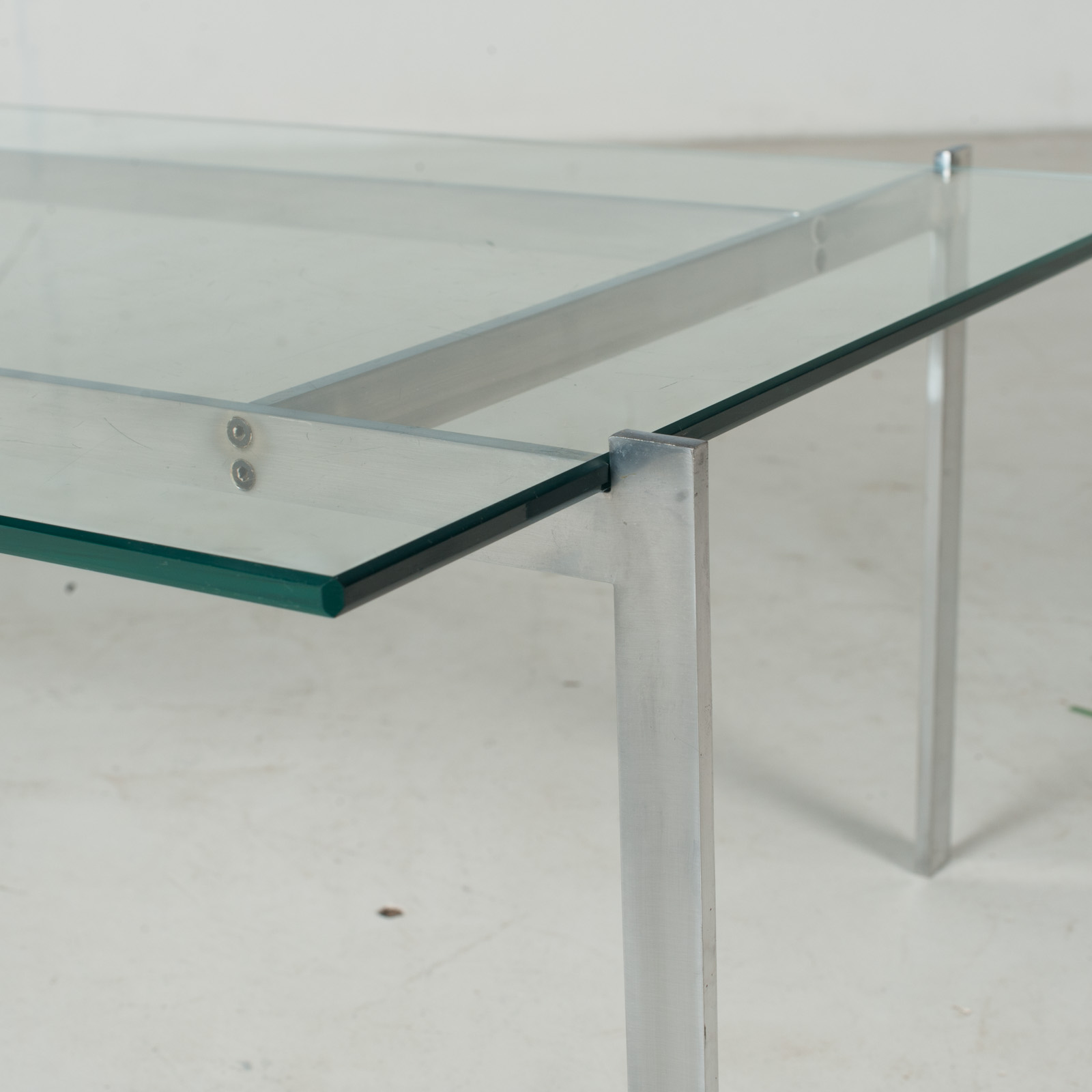Coffee Table In The Style Of Poul Kjaerholm With Chrome And Glass, 1960s, Netherlands8