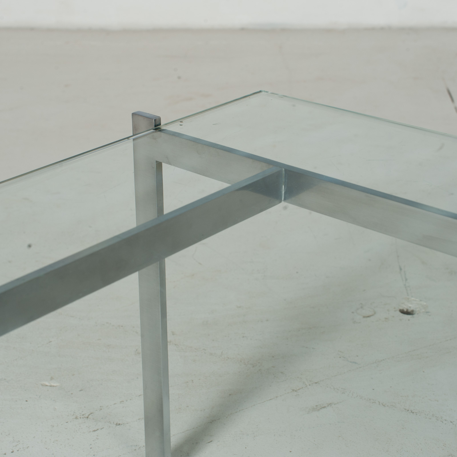 Coffee Table In The Style Of Poul Kjaerholm With Chrome And Glass, 1960s, Netherlands9