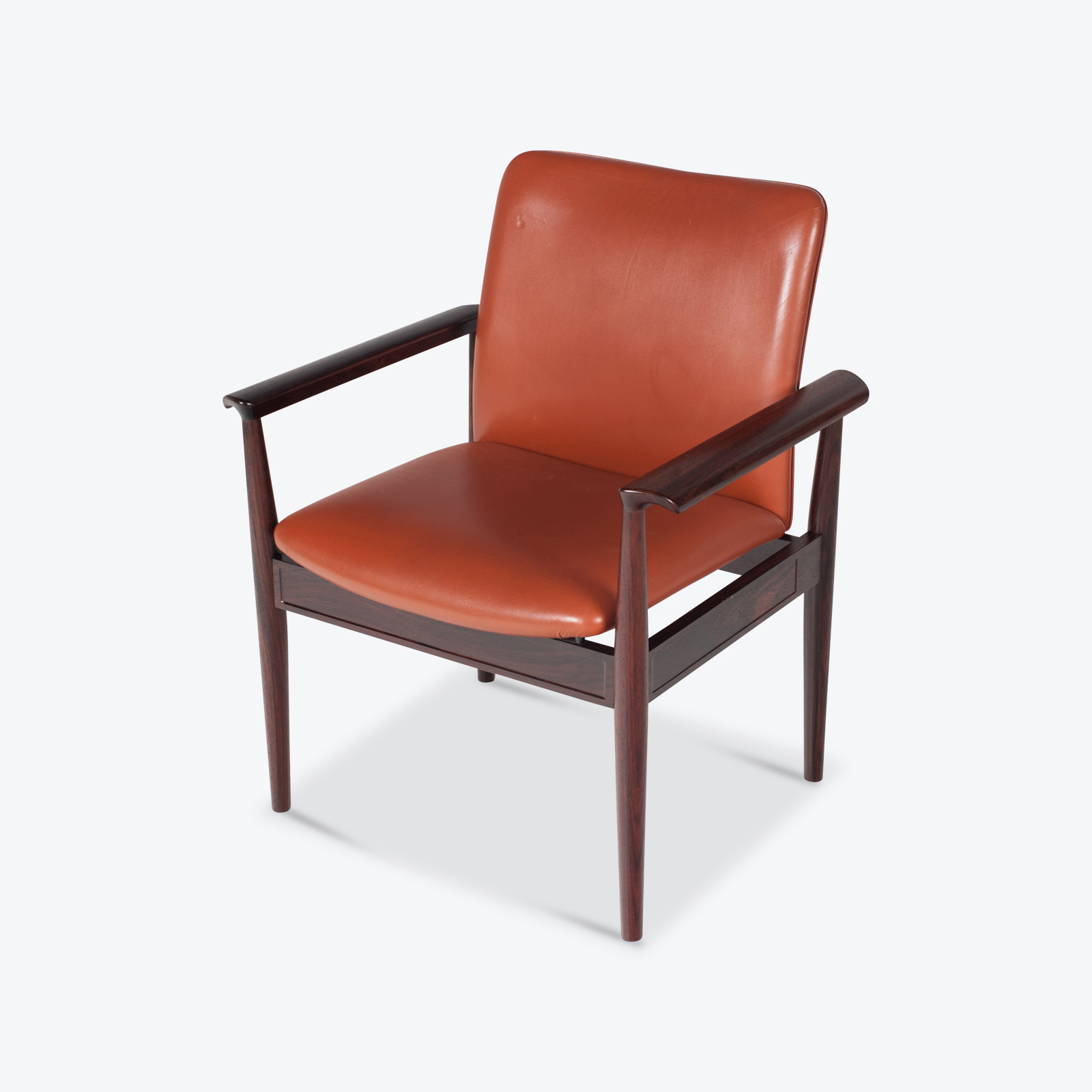 Diplomat Chairs In Rosewood By Finn Juhl For France & Daverkosen, 1963, Denmark Hero 1