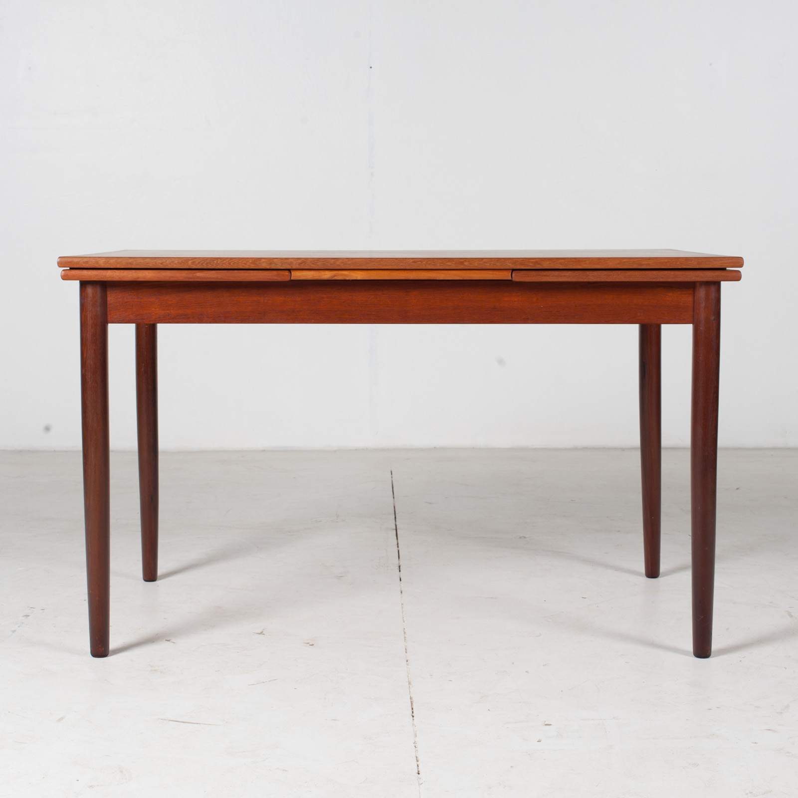 Extendable Rectangular Dining Table In Teak With Solid Edge, 1960s, Denmark1
