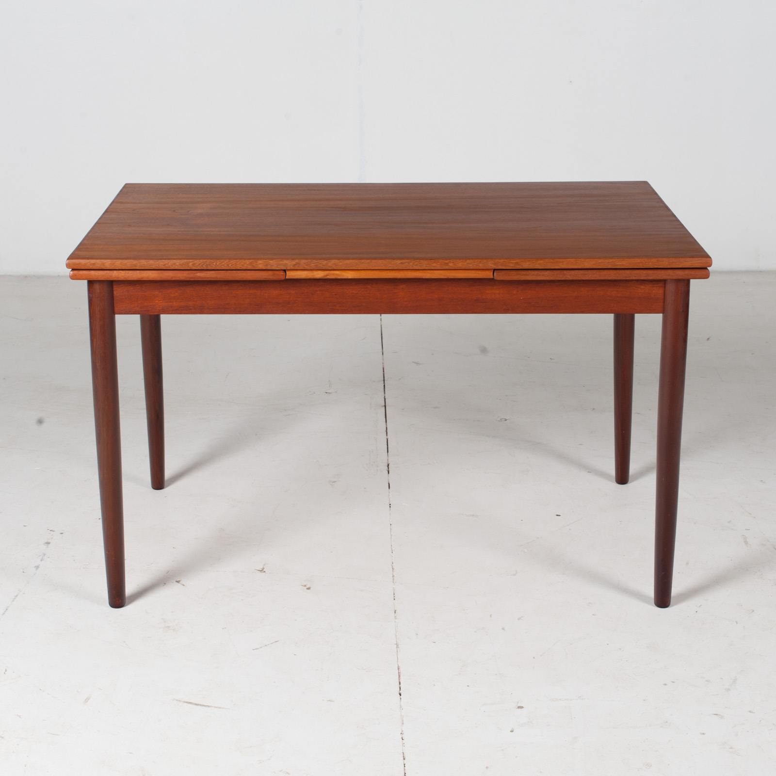 Extendable Rectangular Dining Table In Teak With Solid Edge, 1960s, Denmark2