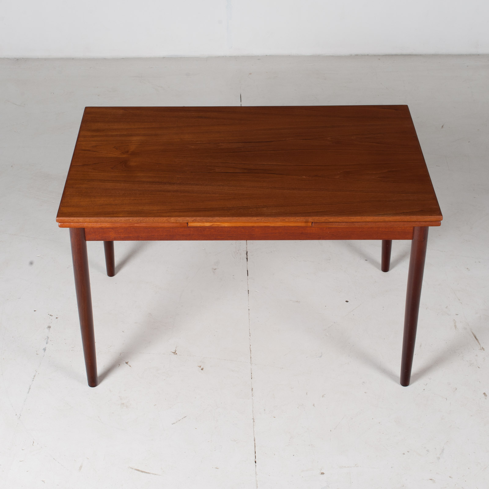 Extendable Rectangular Dining Table In Teak With Solid Edge, 1960s, Denmark3