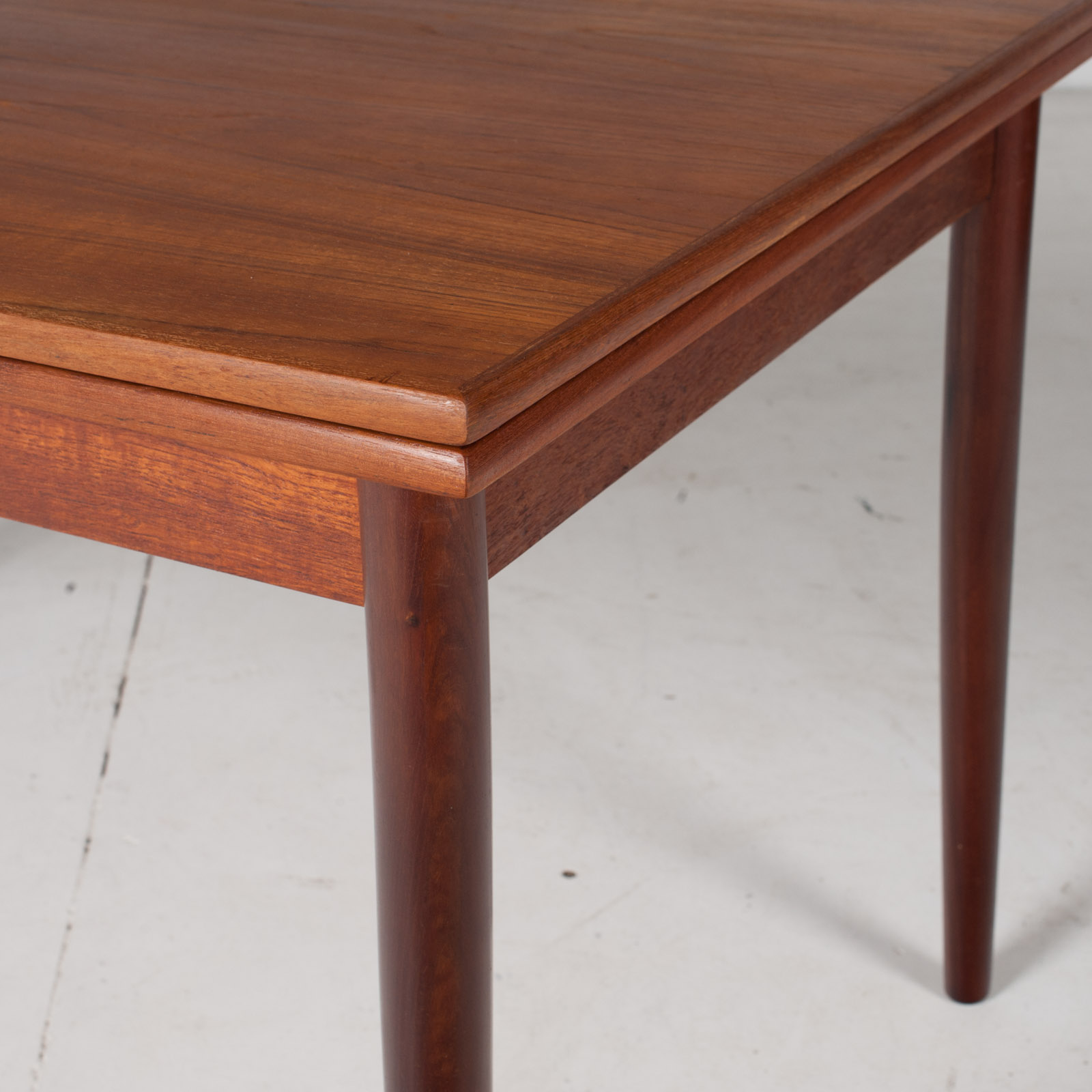 Extendable Rectangular Dining Table In Teak With Solid Edge, 1960s, Denmark6