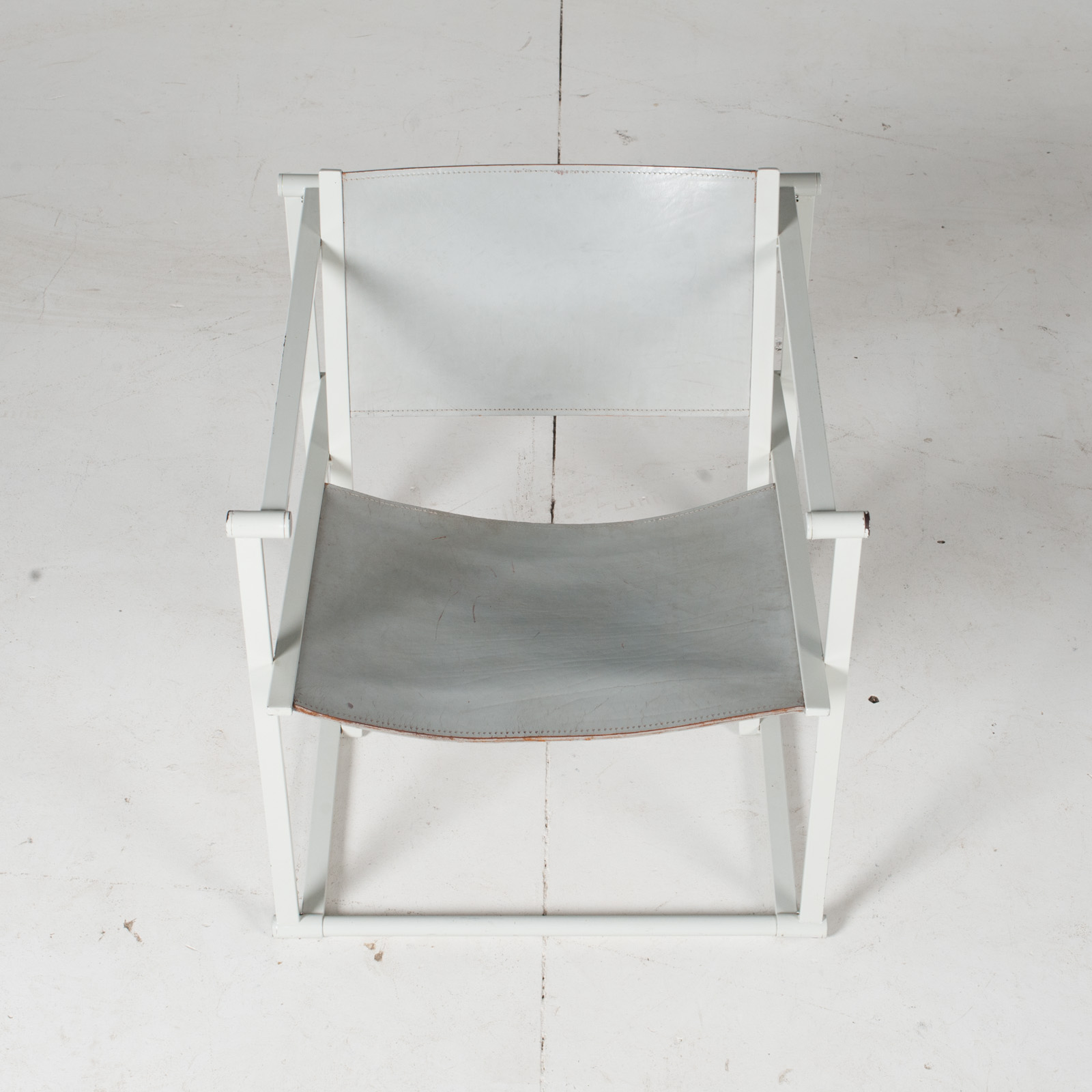 Fm60 Cubic Chairs In White Steel With Grey Leather By Radboud Van Beekum For Pastoe, The Netherlands3