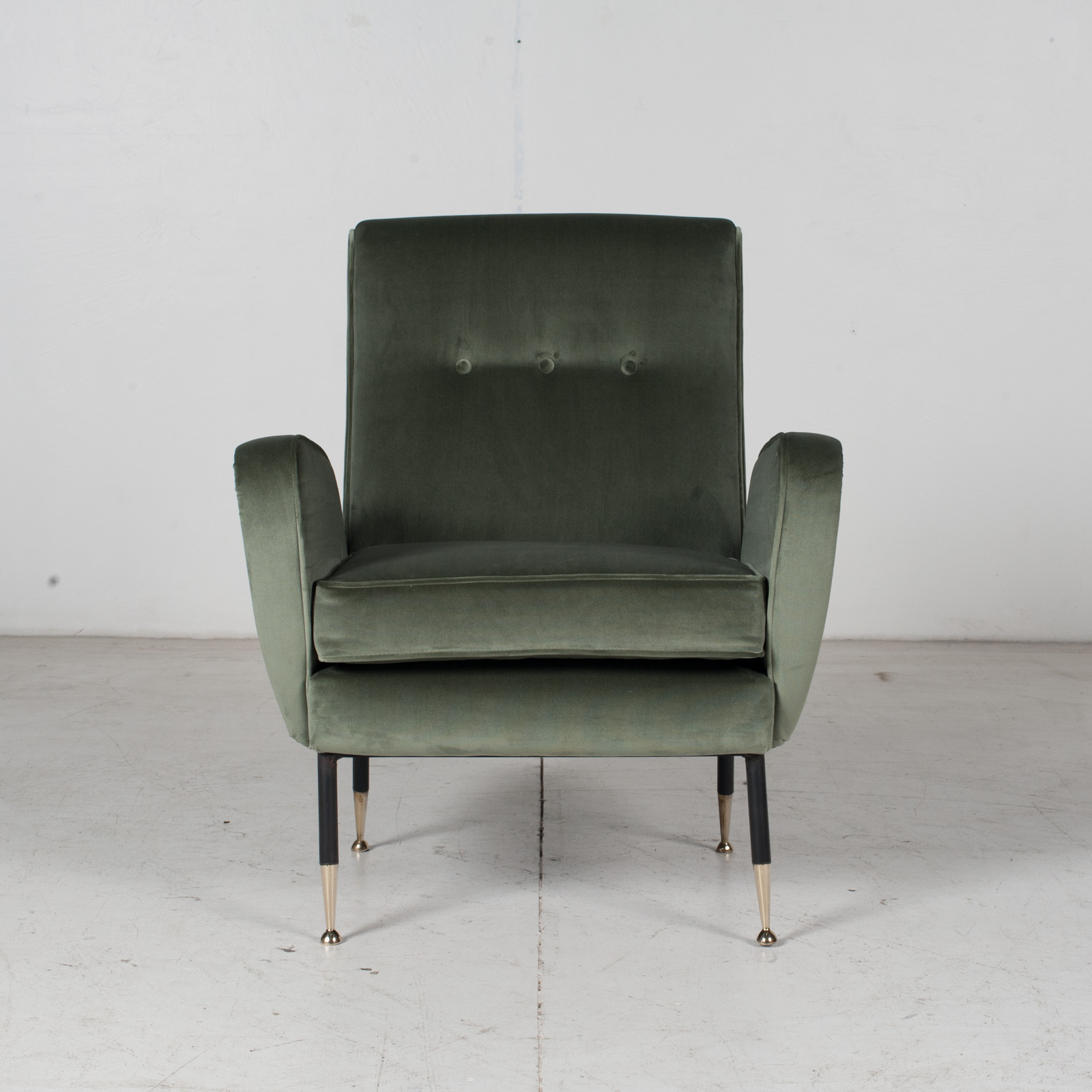 Armchair In The Style Of Gio Ponti In New Upholstery, Italy 1